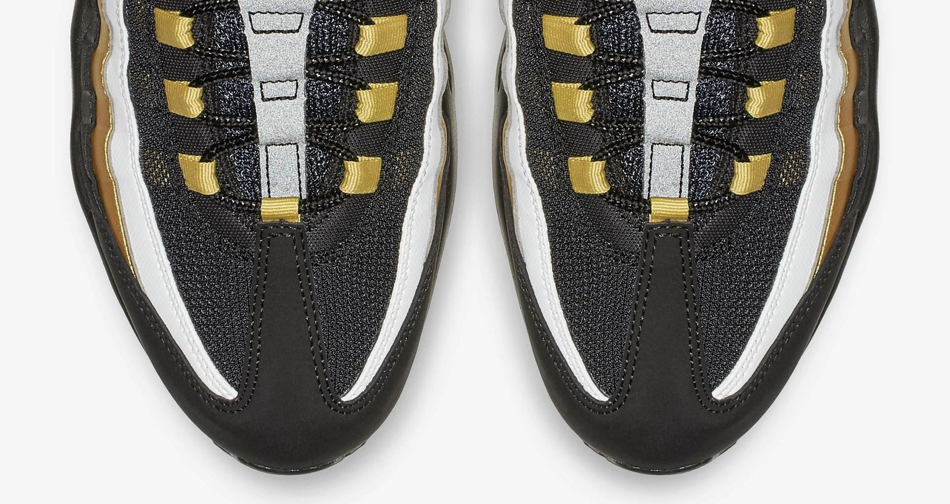 bbc83d7518 Air Max 95 OG 'Black & Metallic Gold & White' Release Date. Nike+ SNKRS