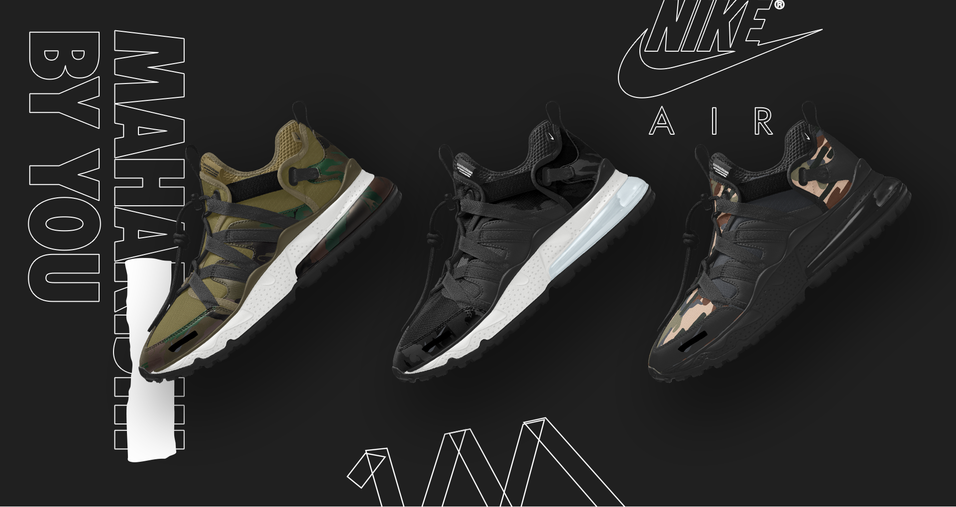 newest e1265 272a0 Air Max 270 Bowfin: Maharishi x Nike By You' Release Date ...