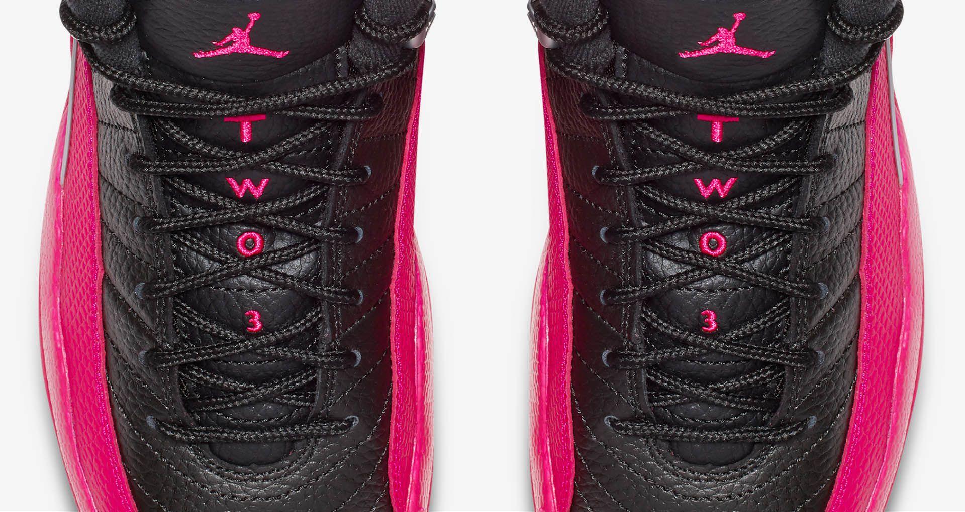 6894f326 Girls' Air Jordan 12 Retro 'Black & Deadly Pink' Release Date. Nike ...
