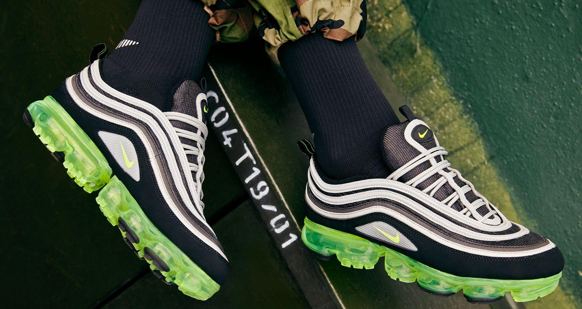 c93b87447b7 Nike Air Vapormax 97  Black   Volt   Metallic Silver  Release Date ...