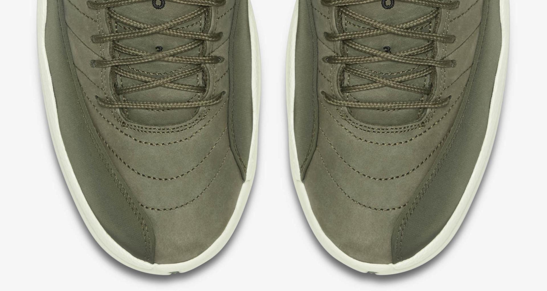 best sneakers 9aec0 fcde7 Air Jordan 12 Retro 'Olive Canvas & Metallic Gold' Release ...