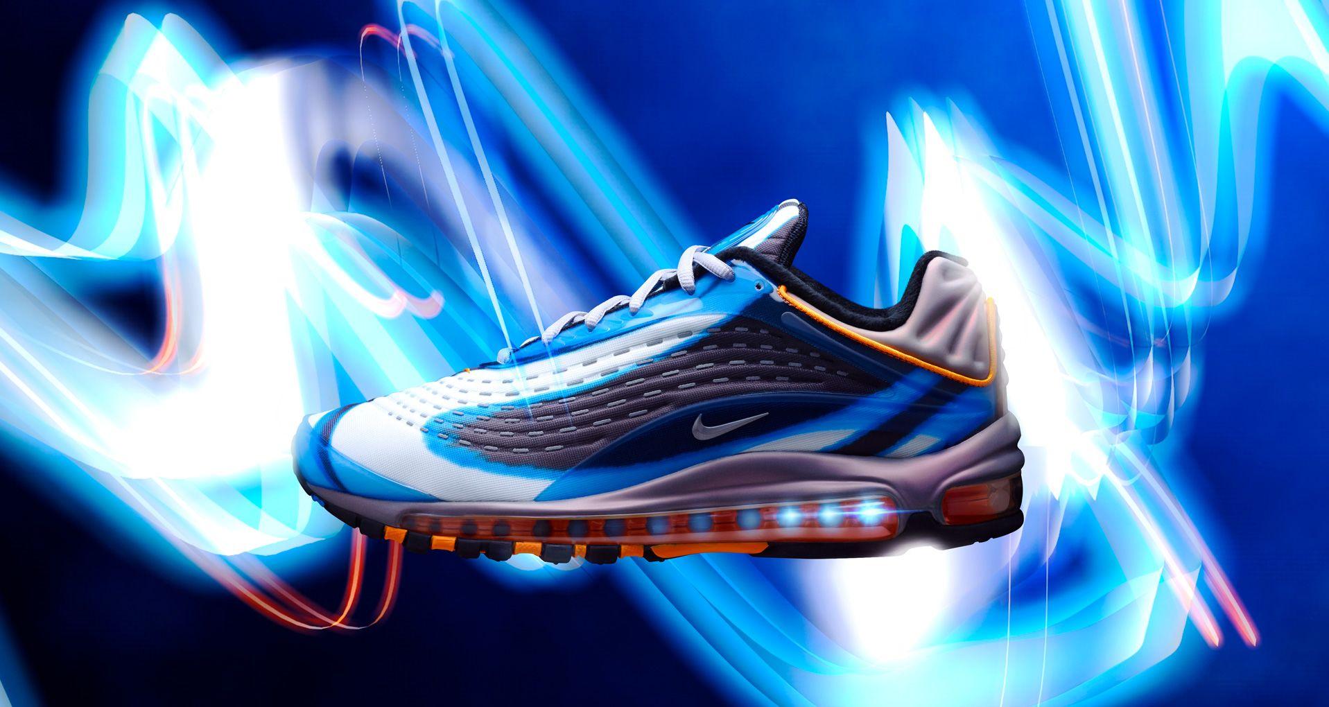 1ffbf11c07ad Nike Air Max Deluxe  Photo Blue   Wolf Grey   Orange Peel  Release ...