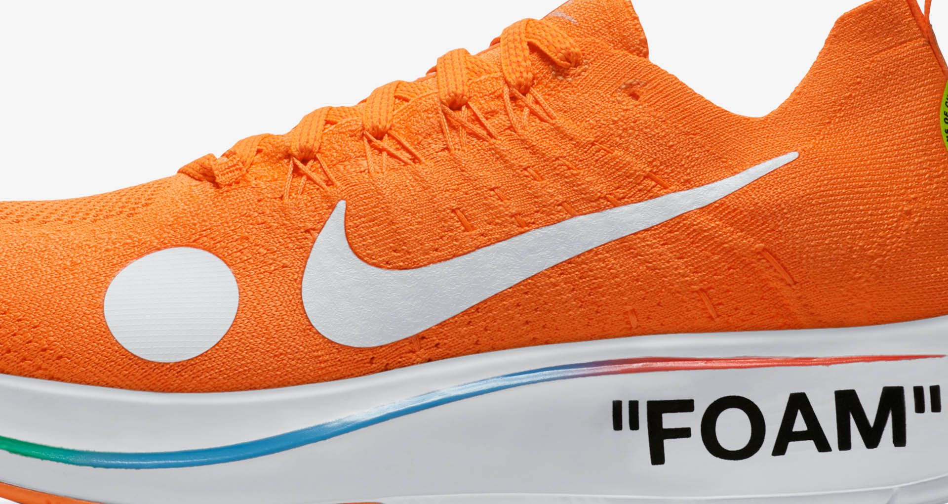b82efc3e2e23 Nike Zoom Fly Mercurial Flyknit Off-White 'Total Orange & Volt & White'