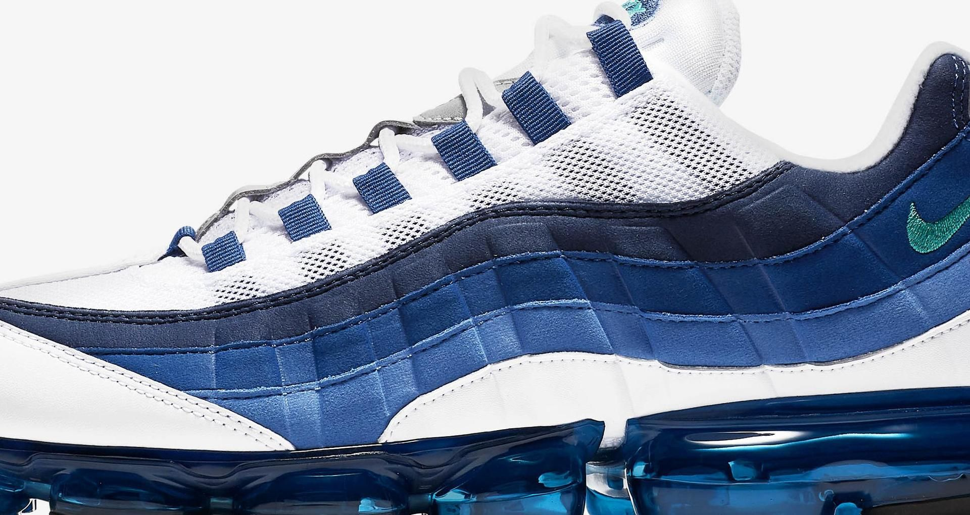 huge selection of 0ed70 3e769 Nike Air Vapormax 95 'White & French Blue' Release Date ...