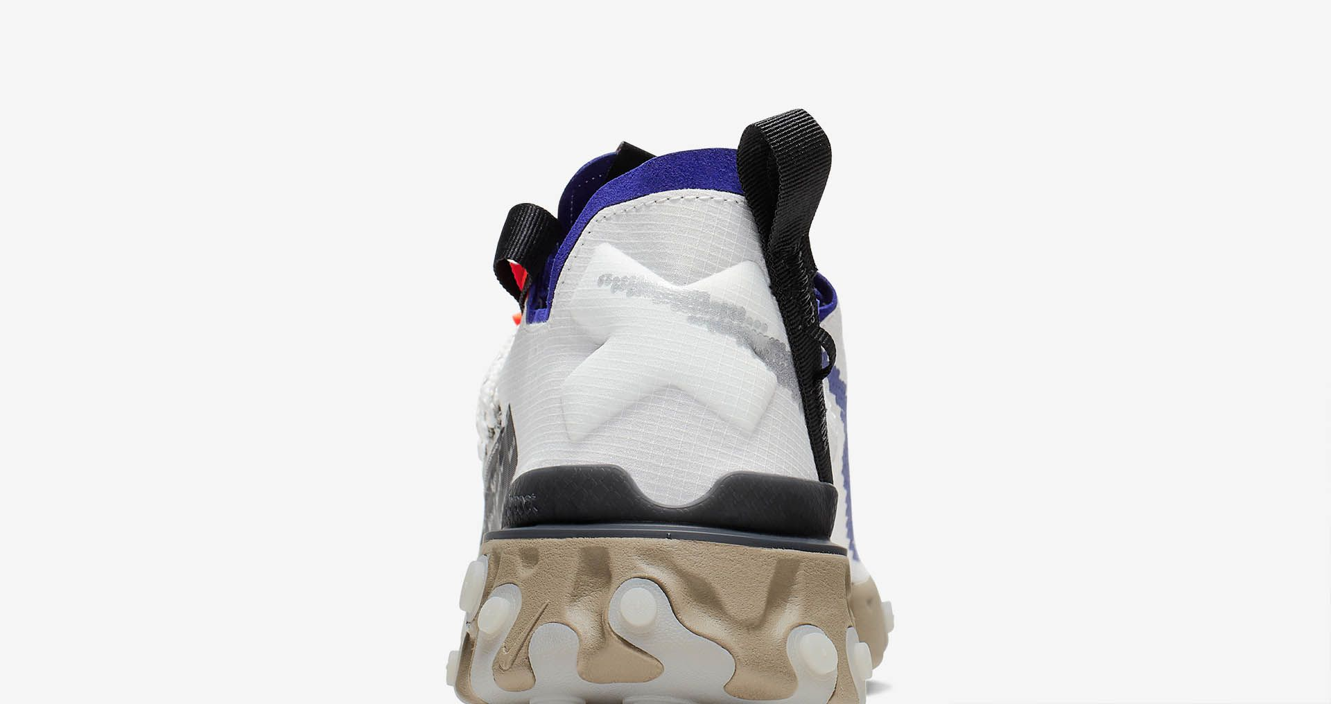 Nike React Runner WR ISPA  Summit White and Deep Royal Blue and ... 3c8d7a20a