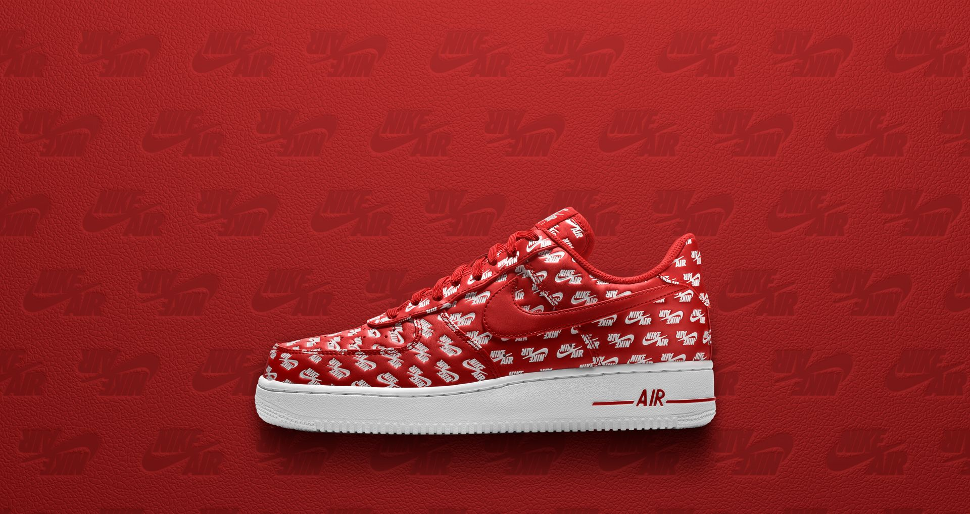 Nike Air Force 1  07  University Red   White  Release Date. Nike⁠+ SNKRS 8e179c172