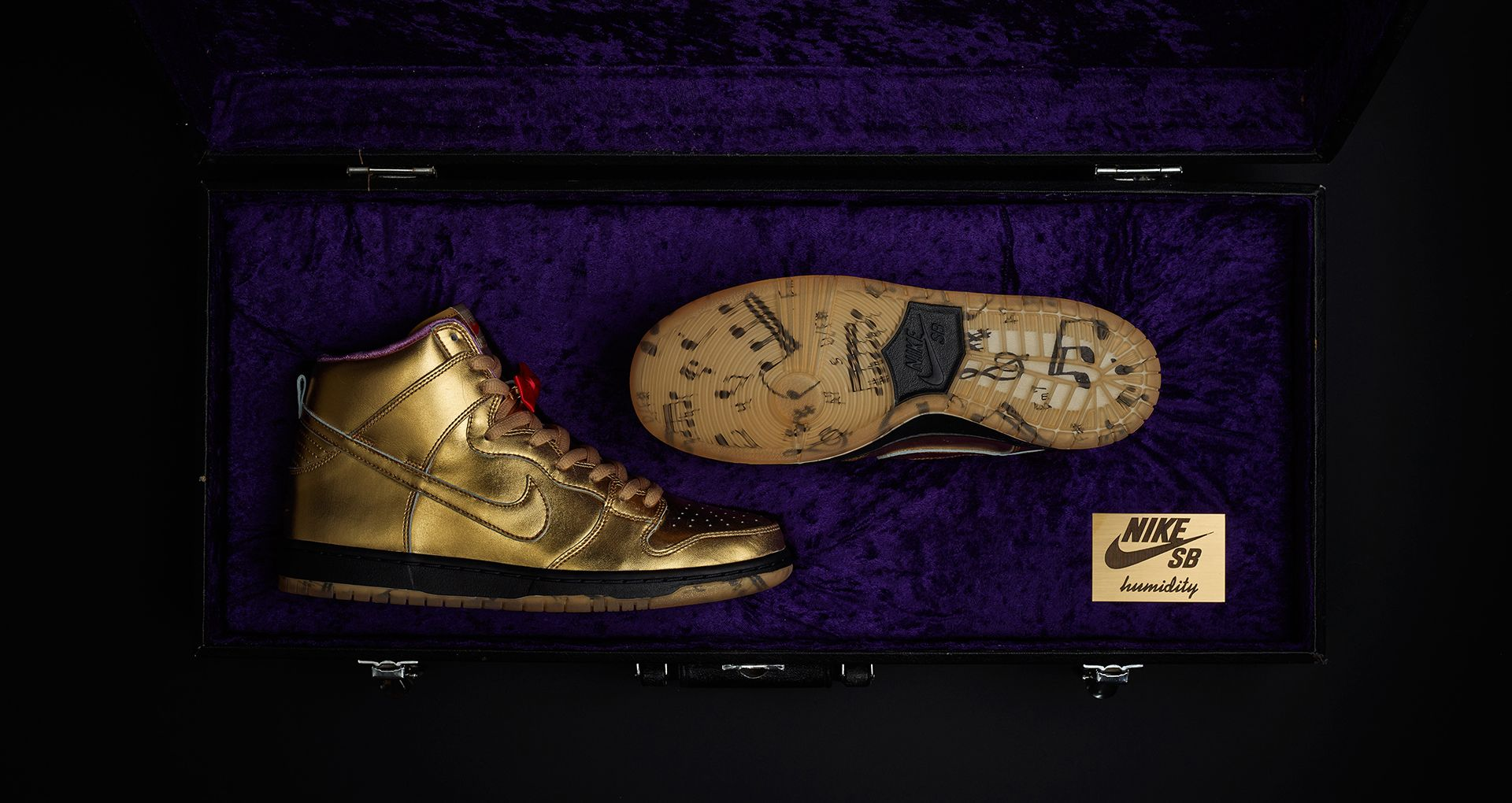best sneakers 52101 4d67f Nike SB Dunk High x Humidity 'Metallic Gold' Release Date ...