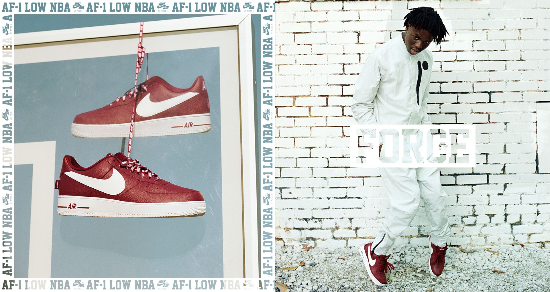 huge discount 594fd bb7e8 Nike AF-1 Low NBA  Team Red   White  Release Date. Nike+ SNKRS