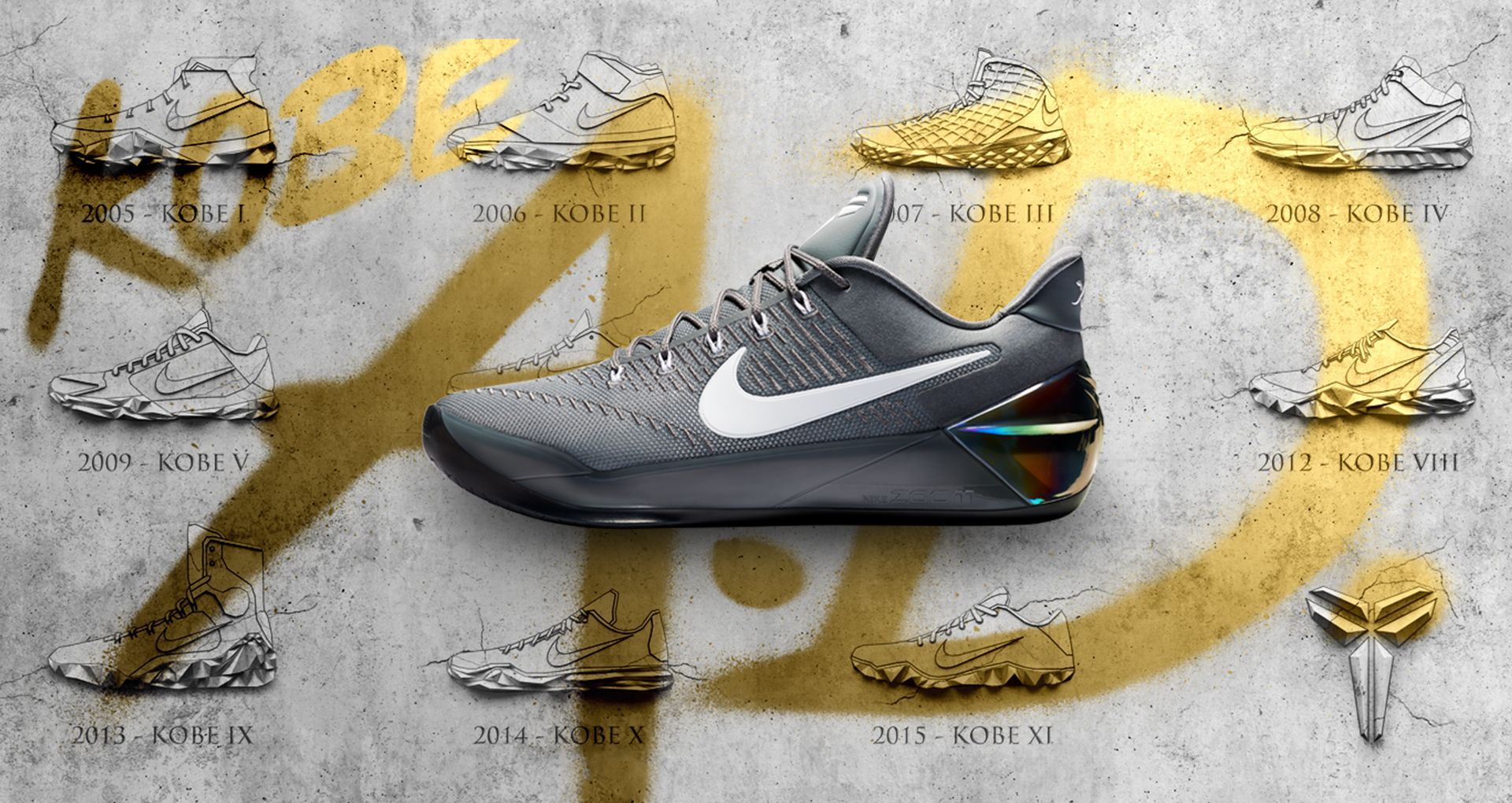 76bba365cce5 Nike Kobe A.D.  Cool Grey . Release Date. Nike+ SNKRS