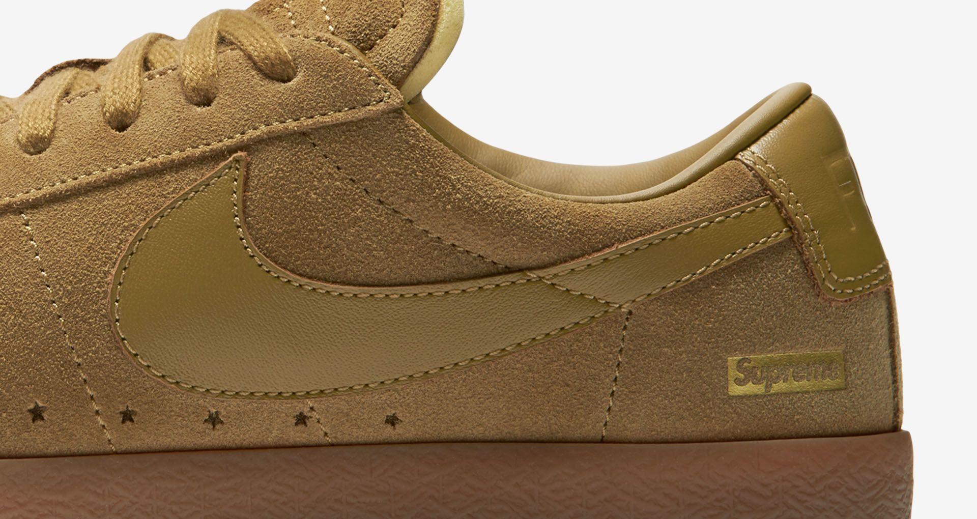 best service 3daa9 3a57f Nike Blazer Low GT x Supreme 'Golden Beige' Release Date ...