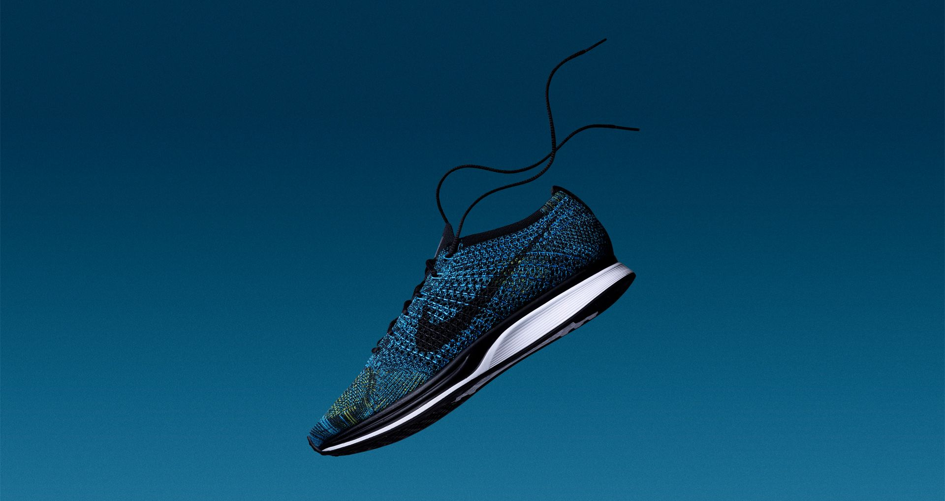 low priced f19ad 7a394 Nike Flyknit Racer  Blue Glow   Yellow Strike . Nike+ SNKRS