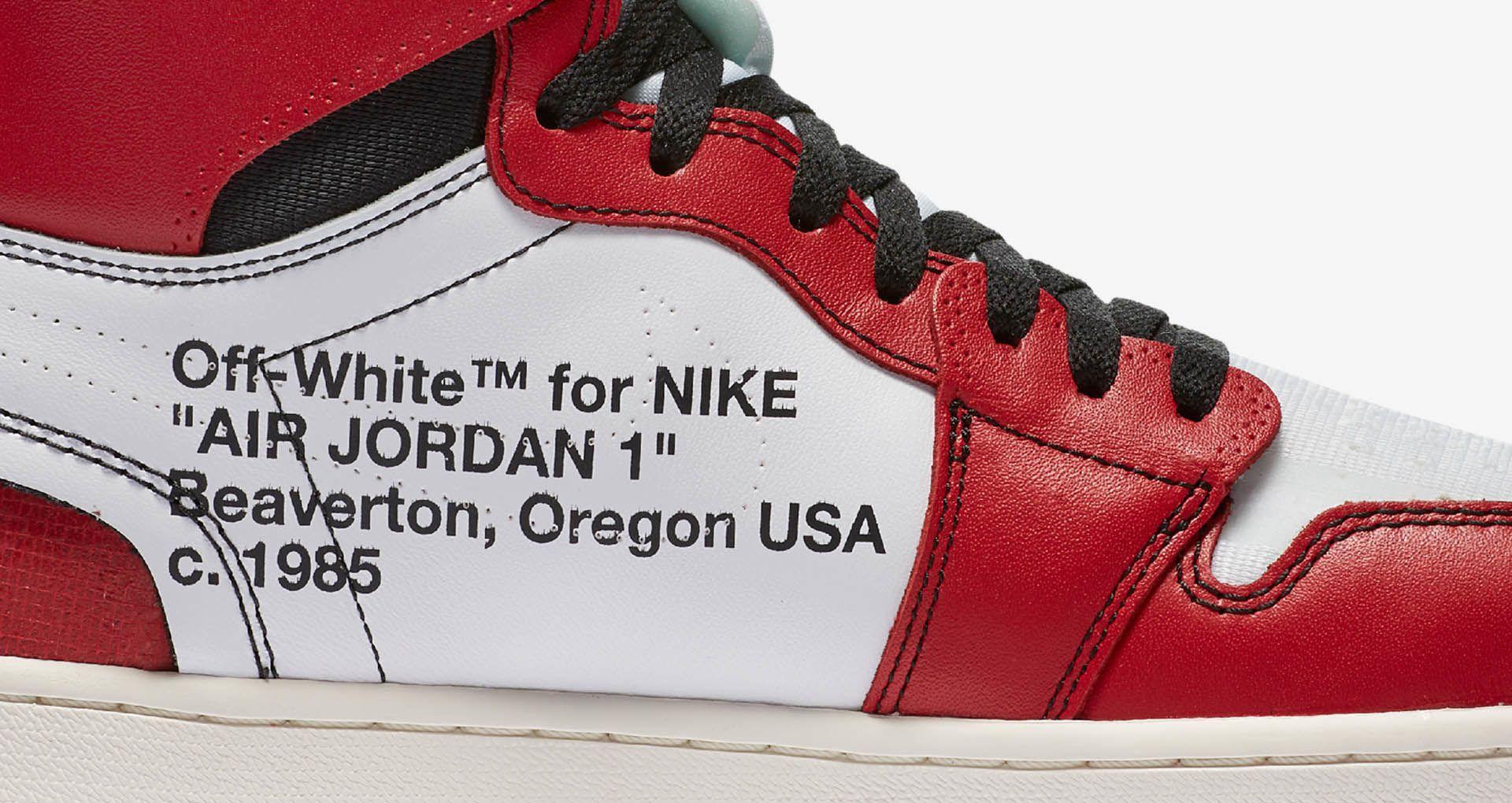 competitive price 109e8 dfc57 The Ten Air Jordan 1 'Off White' Release Date. Nike+ Launch GB