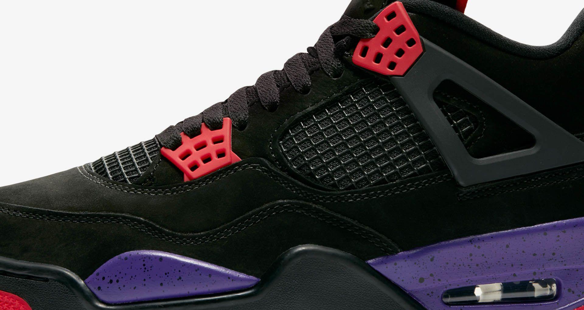 22b7379dde2ce1 Air Jordan 4  Black   Court Purple  Release Date. Nike+ SNKRS