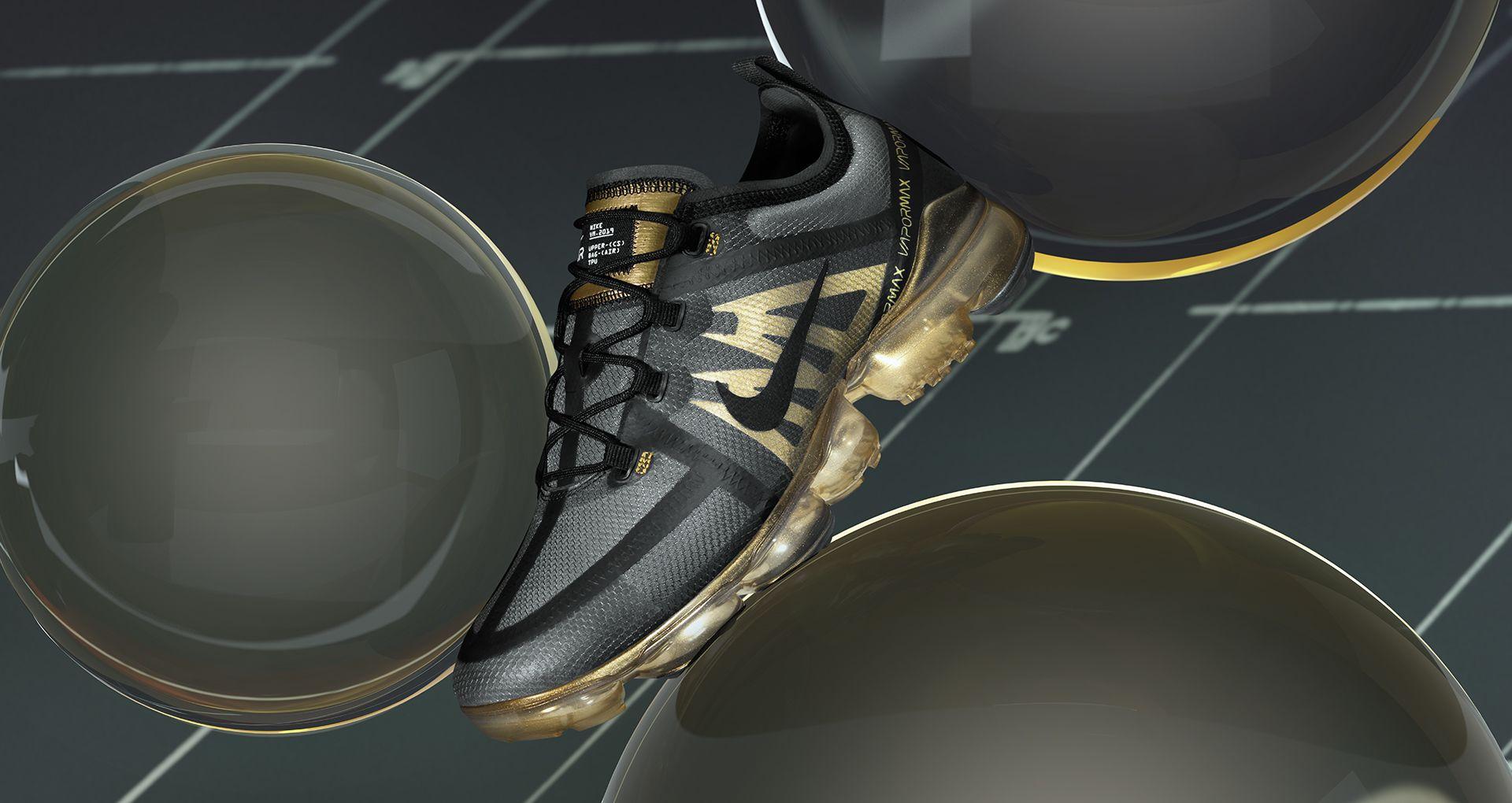 7e68d8fbc78dd Nike Air Vapormax 2019  Black   Metallic Gold  Release Date. Nike+ ...