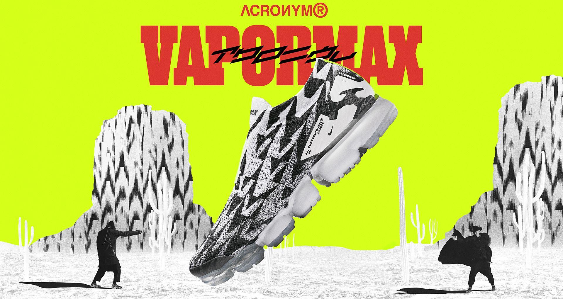 cf15496ad5659 Nike Air Vapormax Moc 2 Acronym  Light Bone   Black   Volt  Release ...
