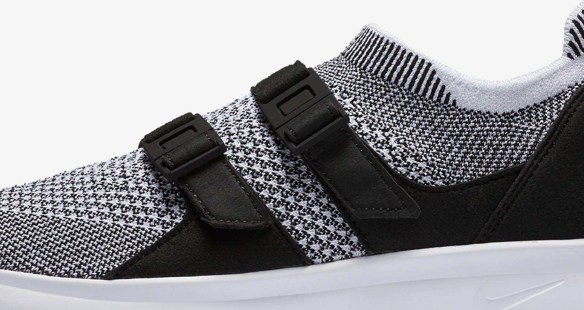 12d3d89467201 Women s Nike Air Sock Racer Ultra Flyknit  Black   White . Nike+ SNKRS