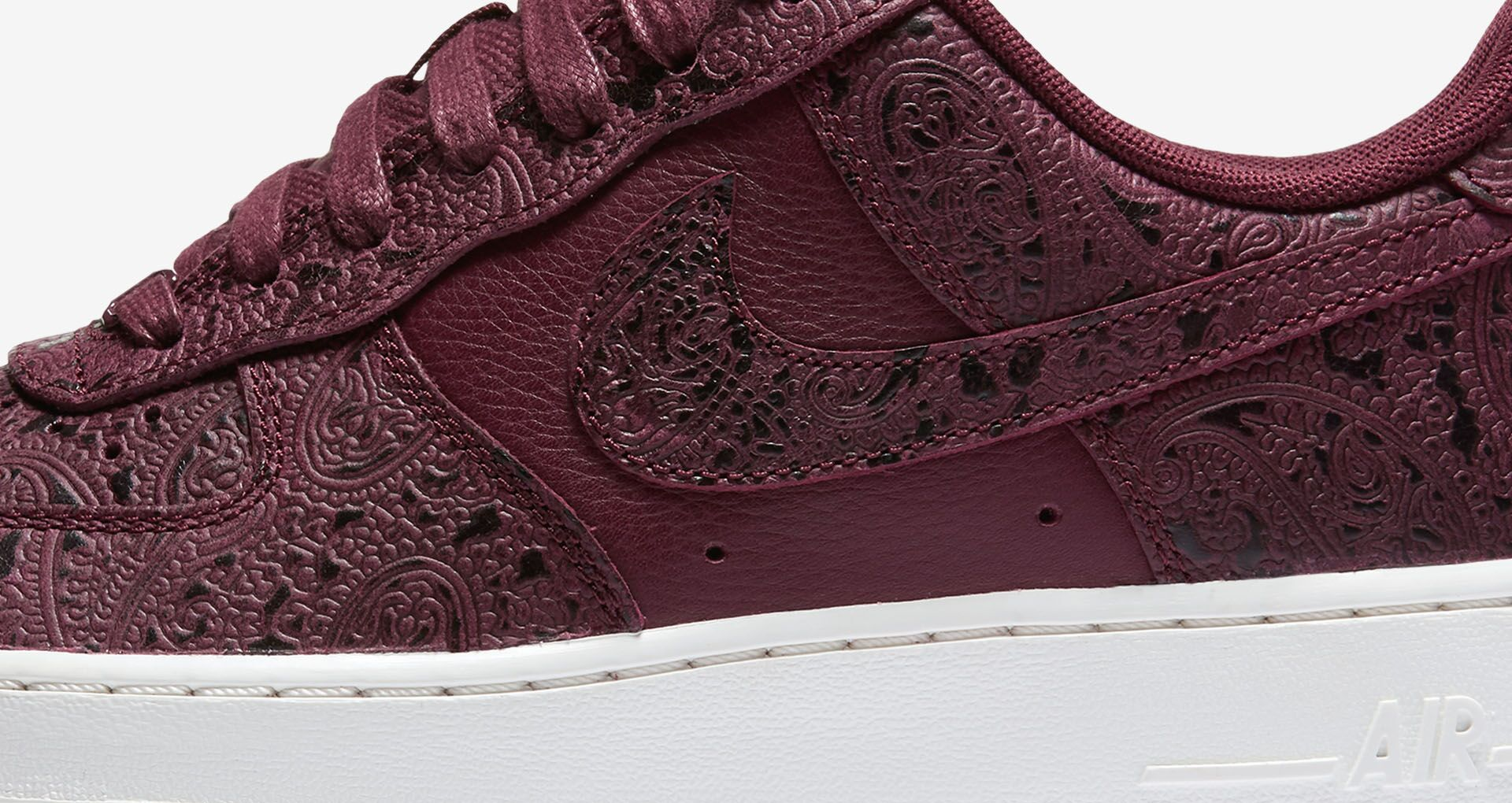 reputable site d4be9 eb186 Women s Nike Air Force 1  Night Maroon   Sail .