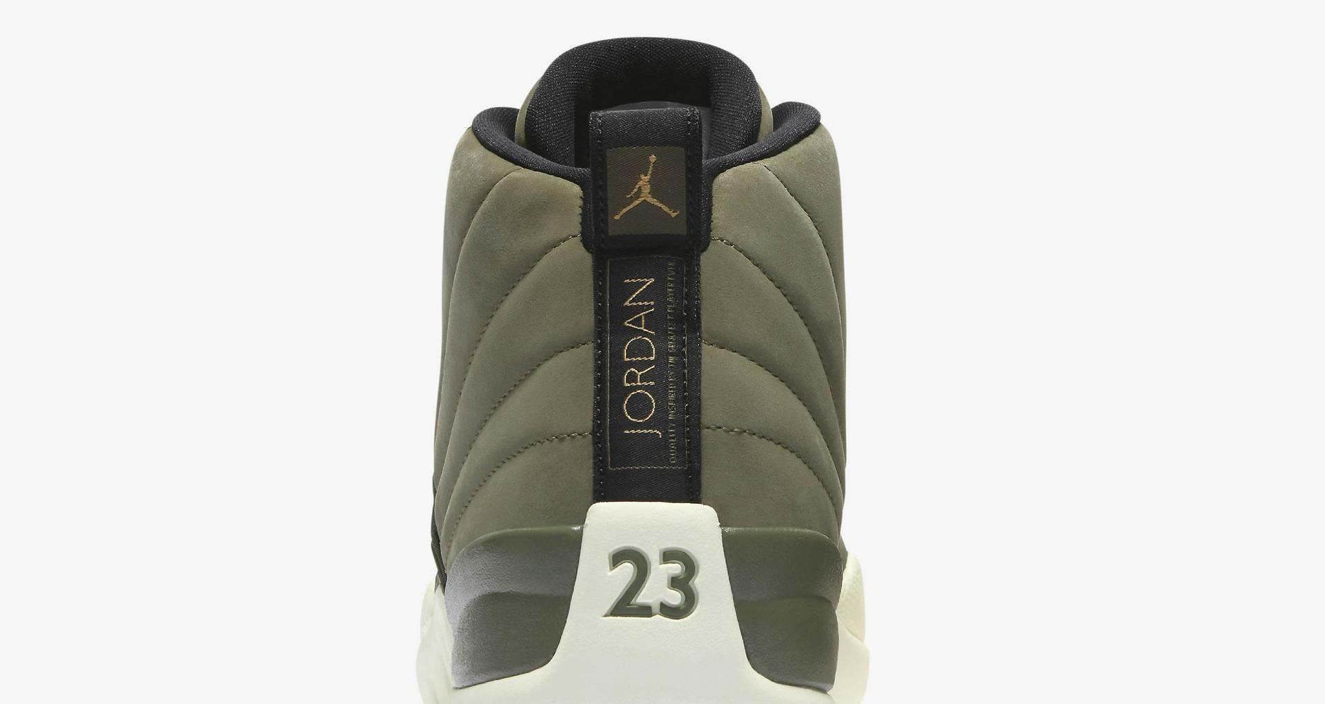 9c399fddc05ee1 Air Jordan 12 Retro  Olive Canvas   Metallic Gold  Release Date ...