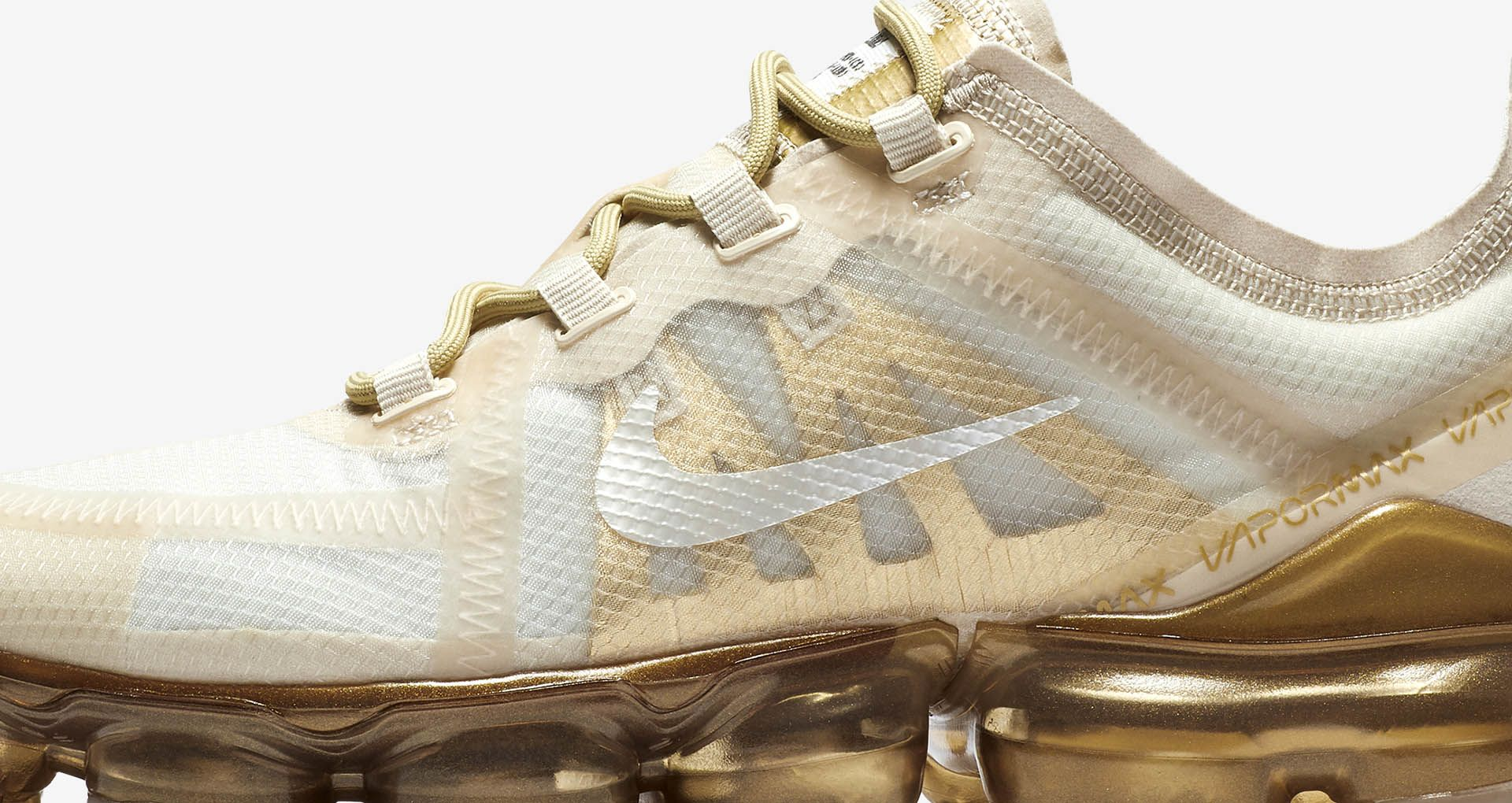 better crazy price pick up Women's Nike Air Vapormax 2019 'White & Metallic Gold ...