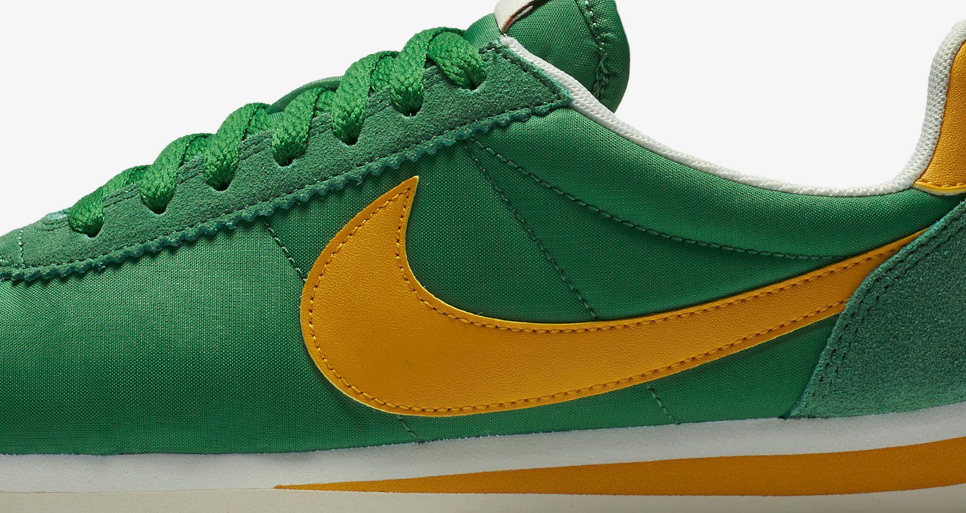 sale retailer 39691 fedf5 Women's Nike Classic Cortez Premium 'Classic Green & Yellow ...