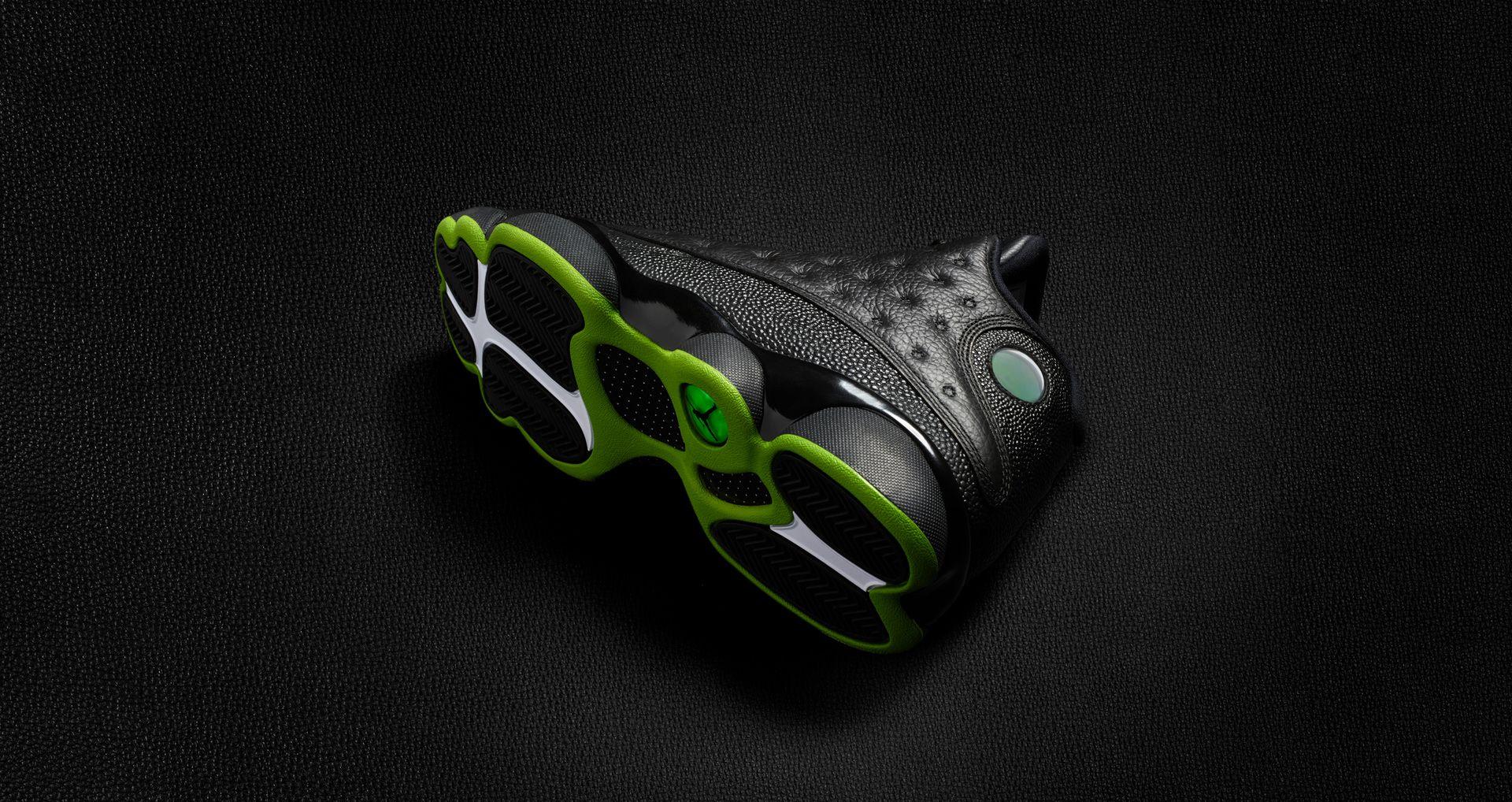 65c95ad0815 Air Jordan 13 'Black & Altitude Green' Release Date. Nike+ SNKRS