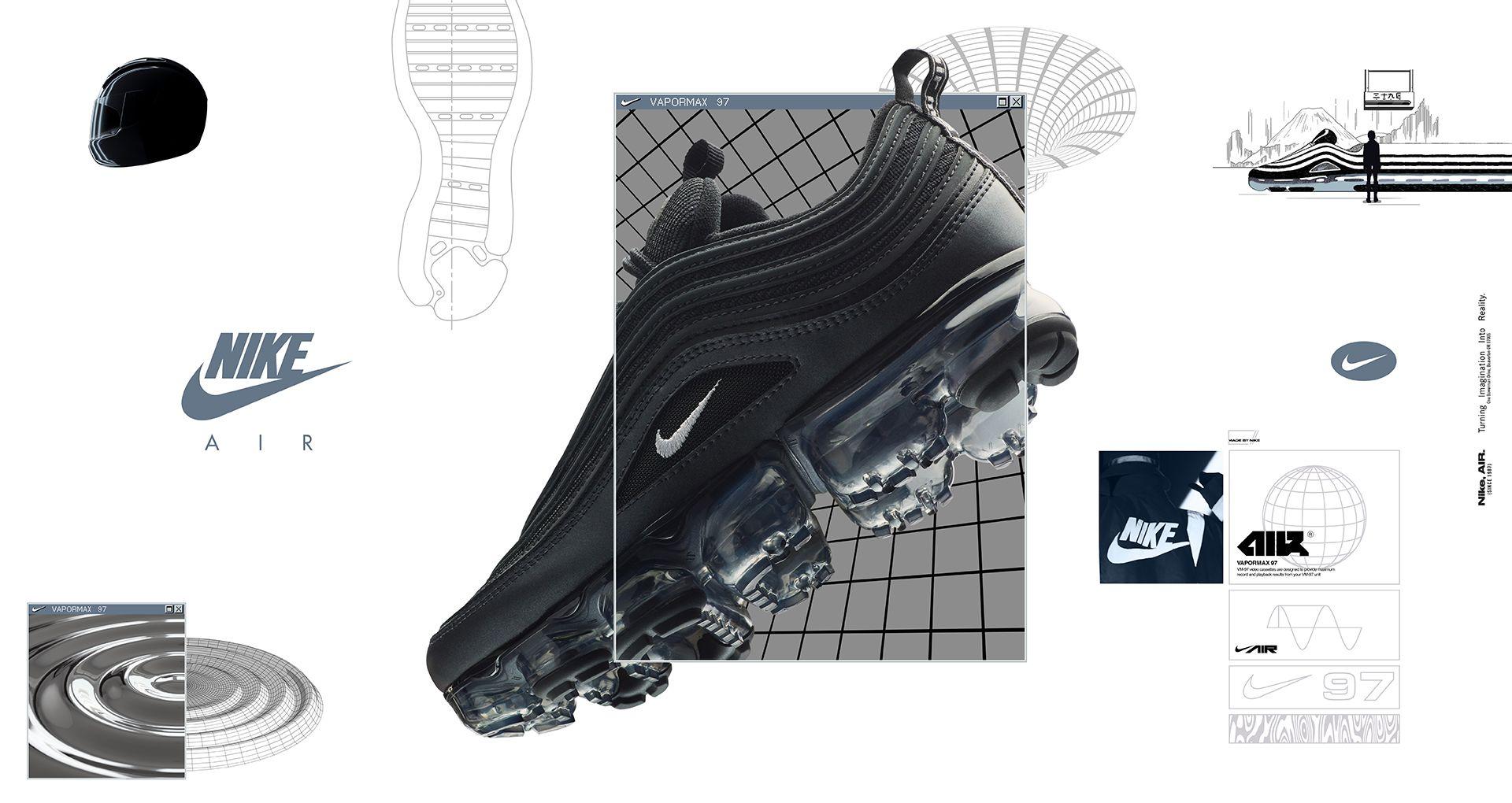 timeless design e1e12 56a47 Nike Women's Air VaporMax 97 'Metallic Hematite & Black ...