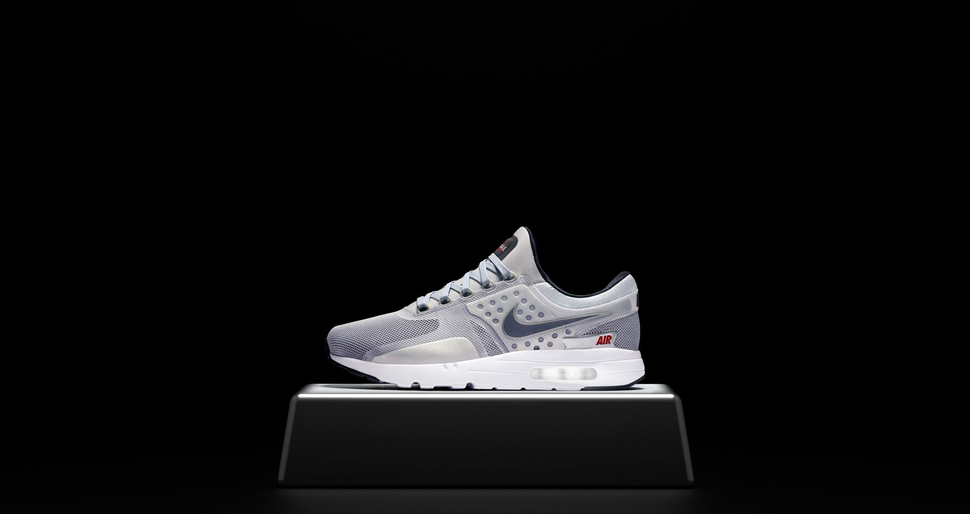 huge discount f6d76 ed3d9 Nike Air Max Zero  Metallic Silver   University Red . Release Date ...