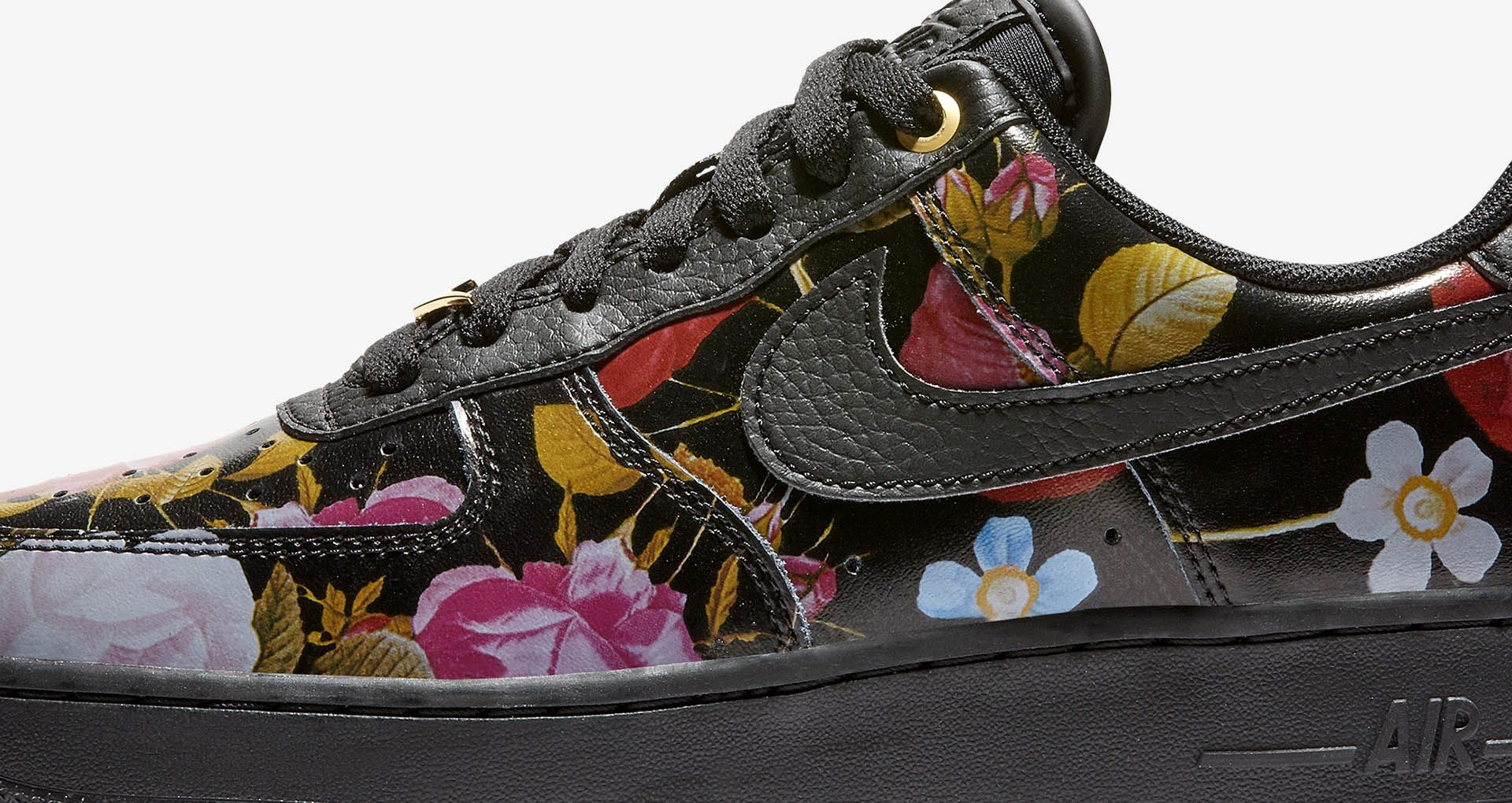 Nike Women Air Force 1 (Black Floral)