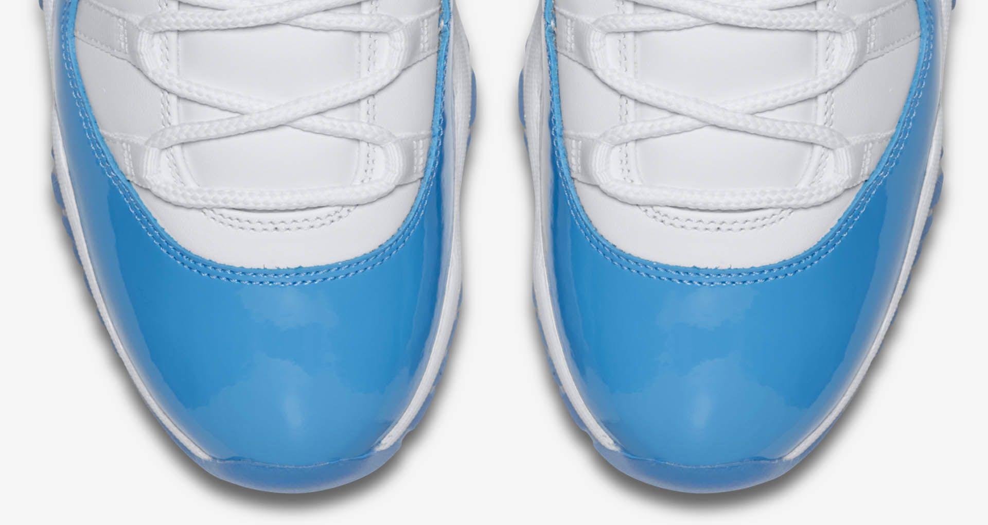 af432248b722f7 Air Jordan 11 Retro Low  White   University Blue . Nike+ SNKRS