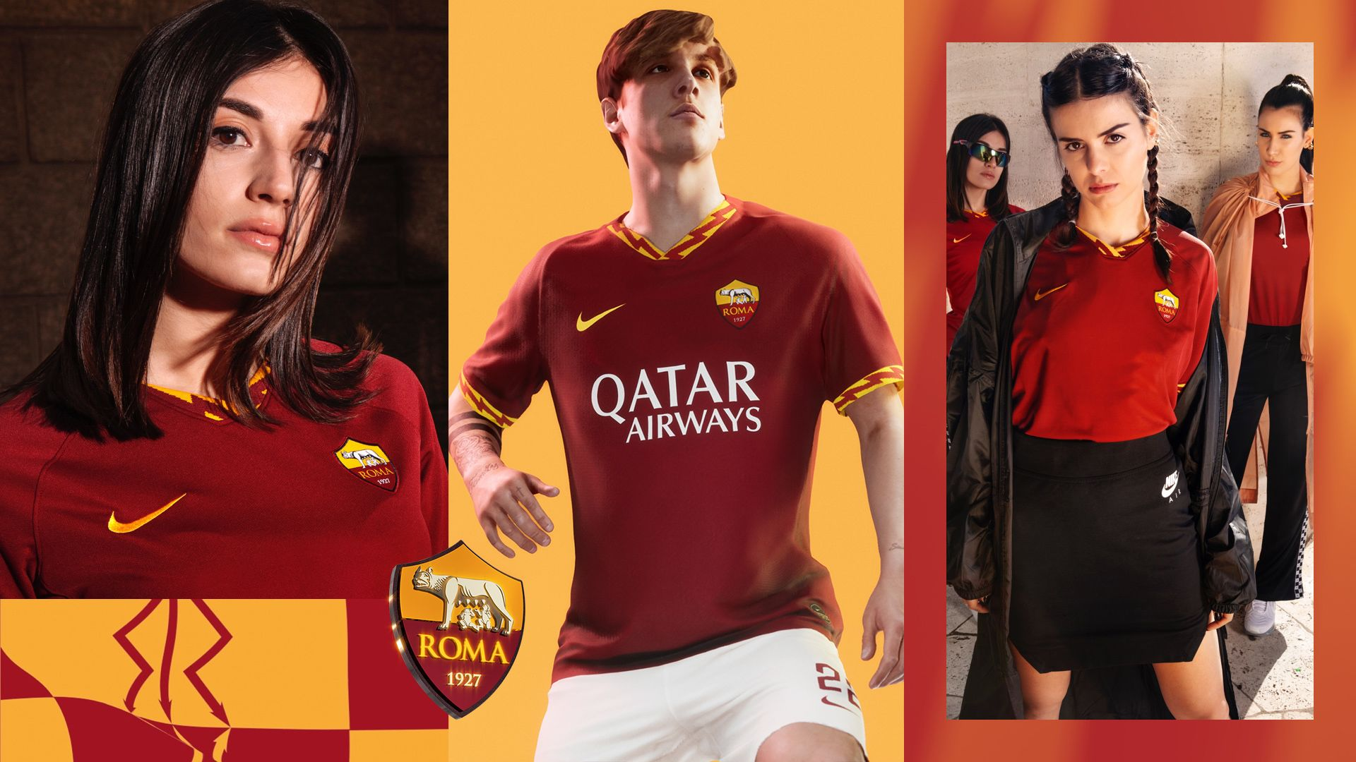 Asroma Calendario.Maglia Home Stadium 2019 20 A S Roma Nike Com It