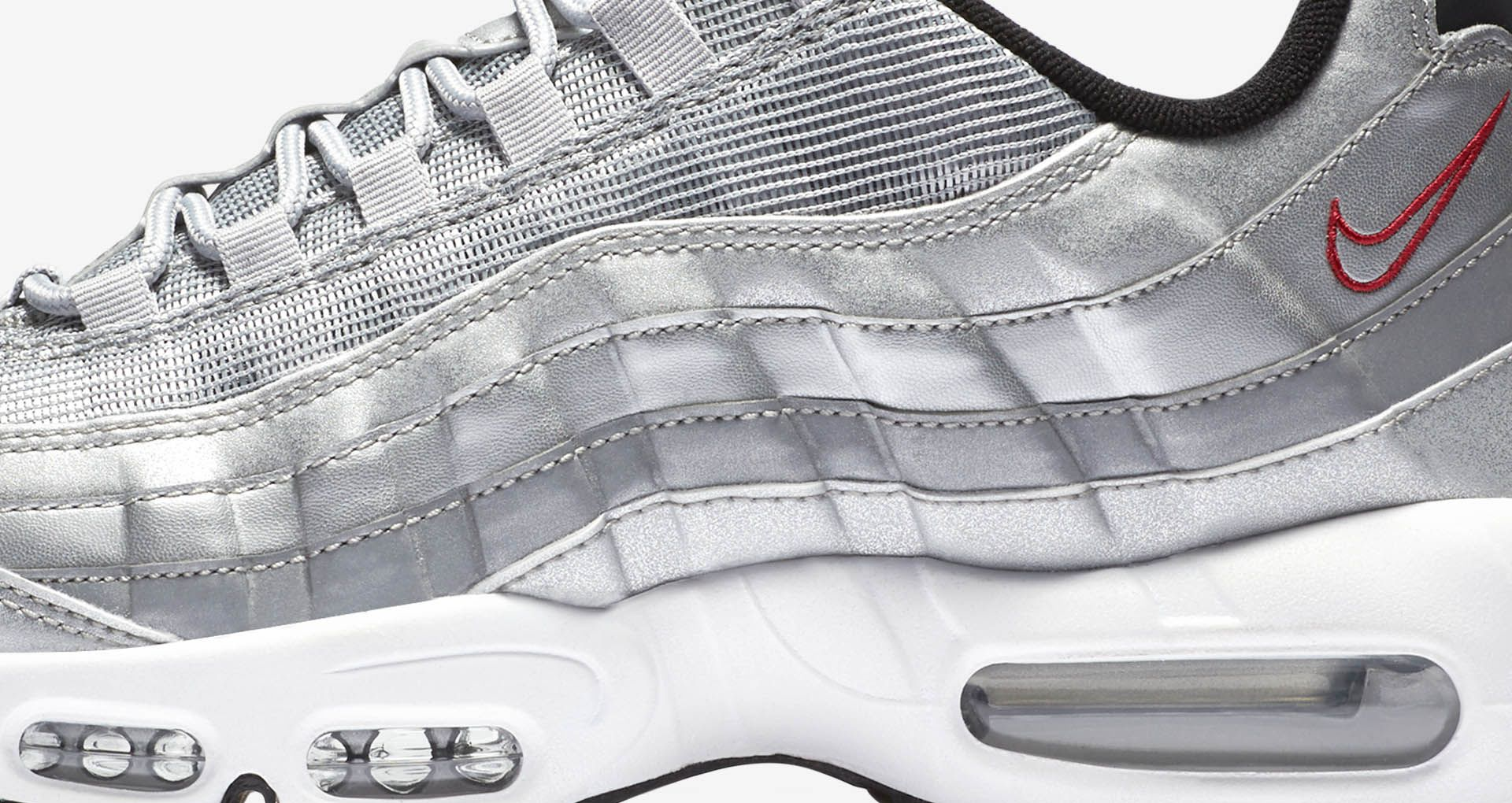 df5431a79ecab Nike Air Max 95 Premium  Metallic Silver . Nike+ SNKRS