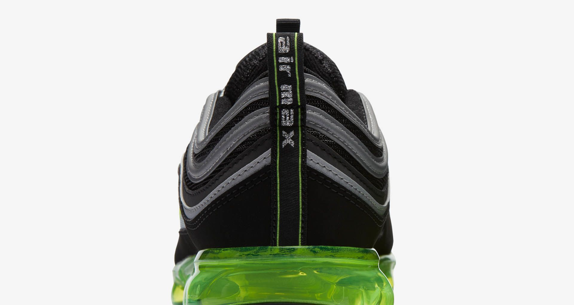 new style a6f92 bef3c Nike Air Vapormax 97 'Black & Volt & Metallic Silver ...