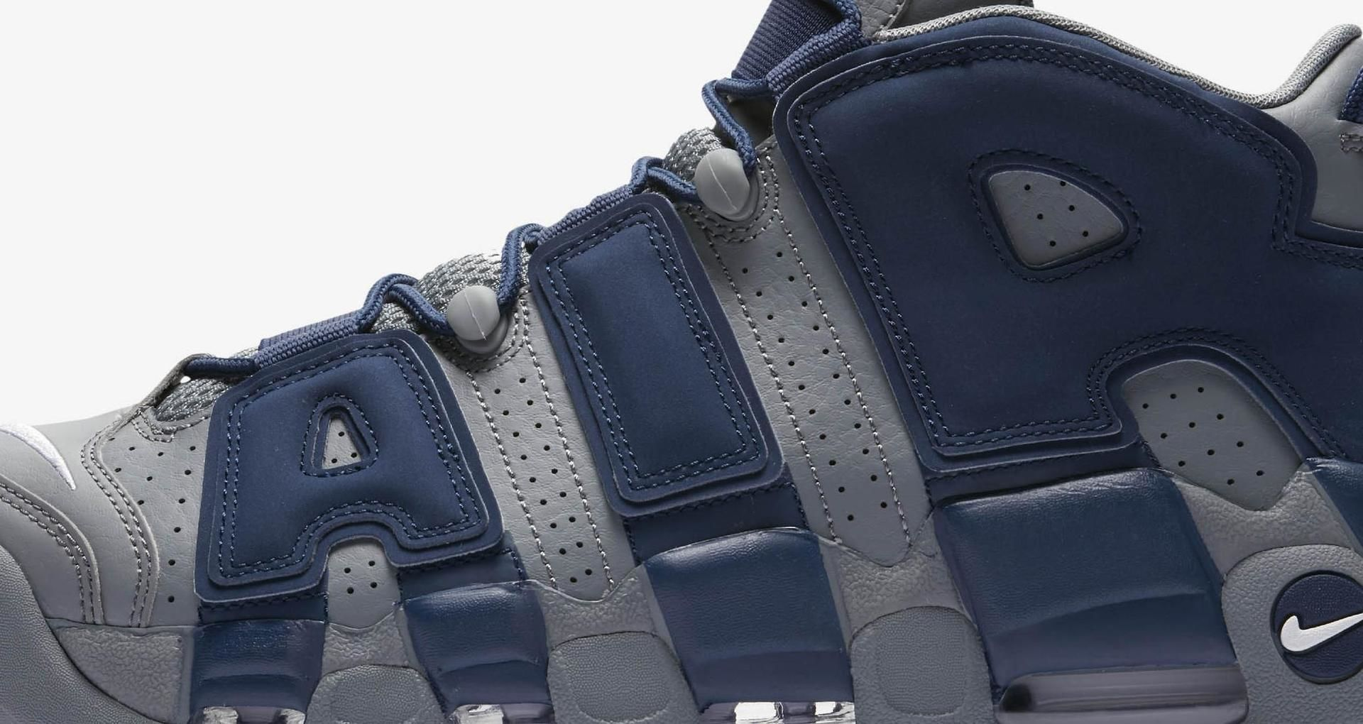 8ec274f0c7a81b Nike Air More Uptempo  Cool Grey   Midnight Navy   White  Release ...