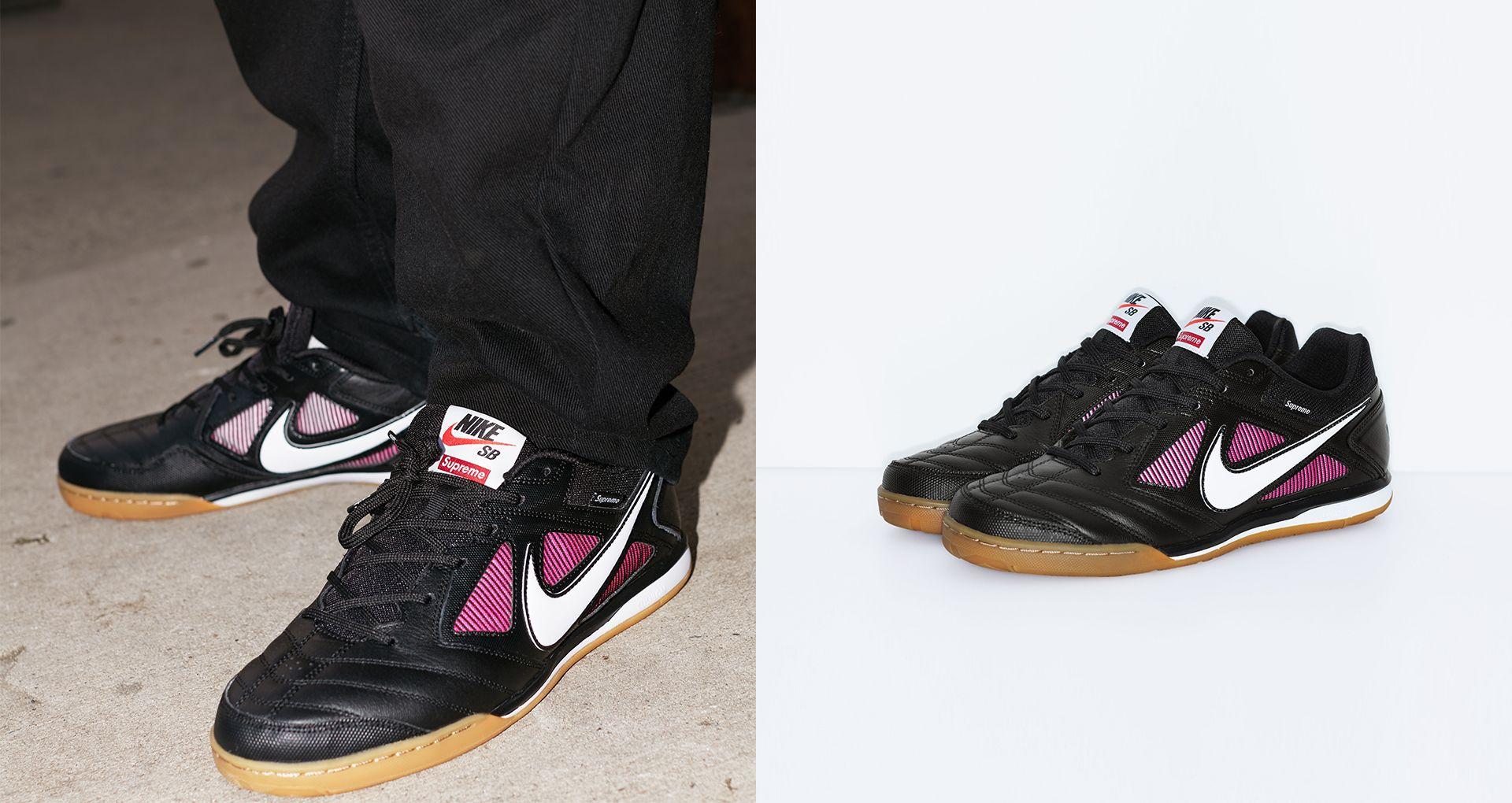 f0c3b431402c SB GATO. SUPREME. £89.95. Nike Sb Gato Qs Supreme  Black   White ...