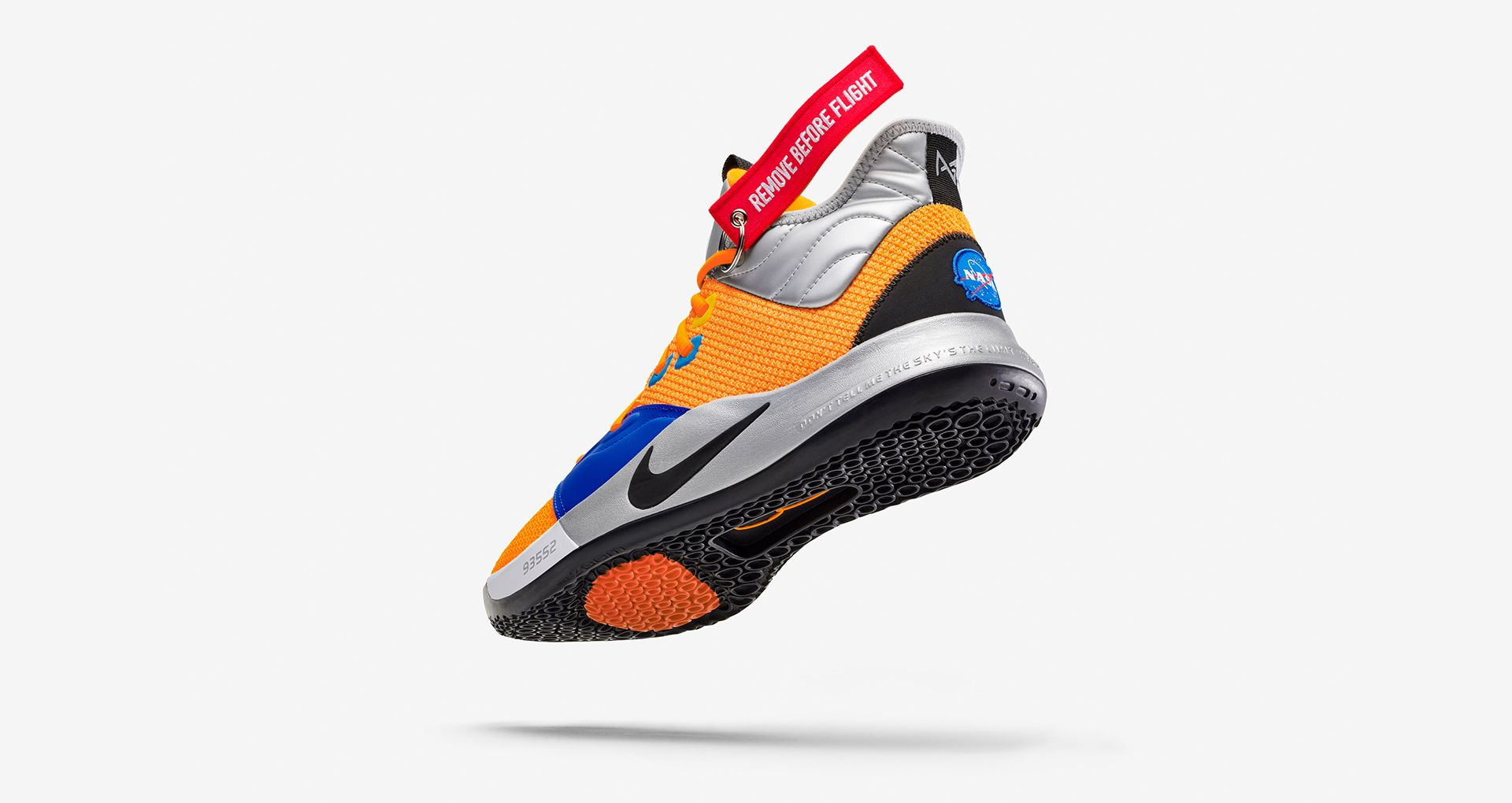 buy online 4d675 9db6c Nike PG 3 NASA  Total Orange  Release Date