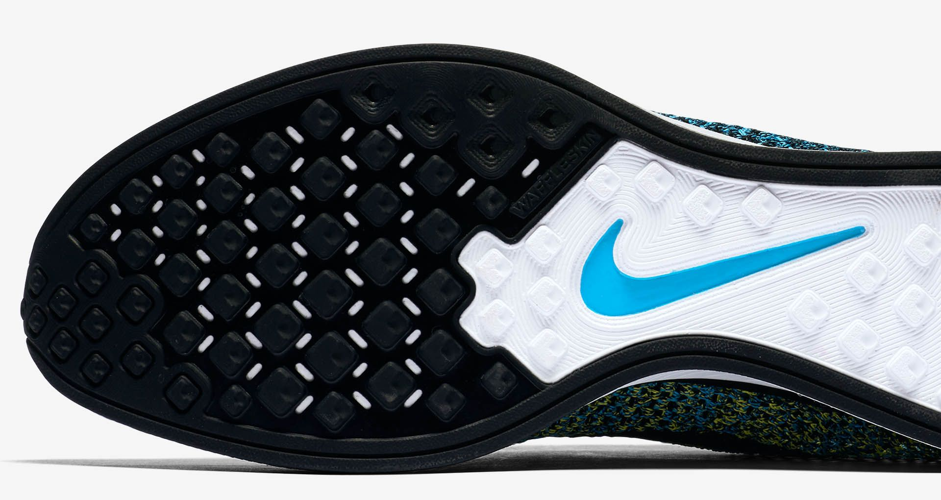 493d1fdf81b2 Nike Flyknit Racer  Blue Glow  amp  Yellow Strike . Nike+ Launch GB