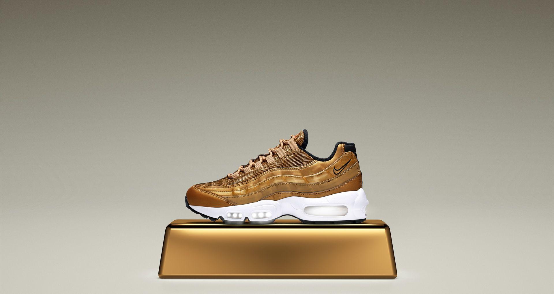 watch 70cb9 82cfd Women's Nike Air Max 95 'Metallic Gold' Release Date. Nike+ ...