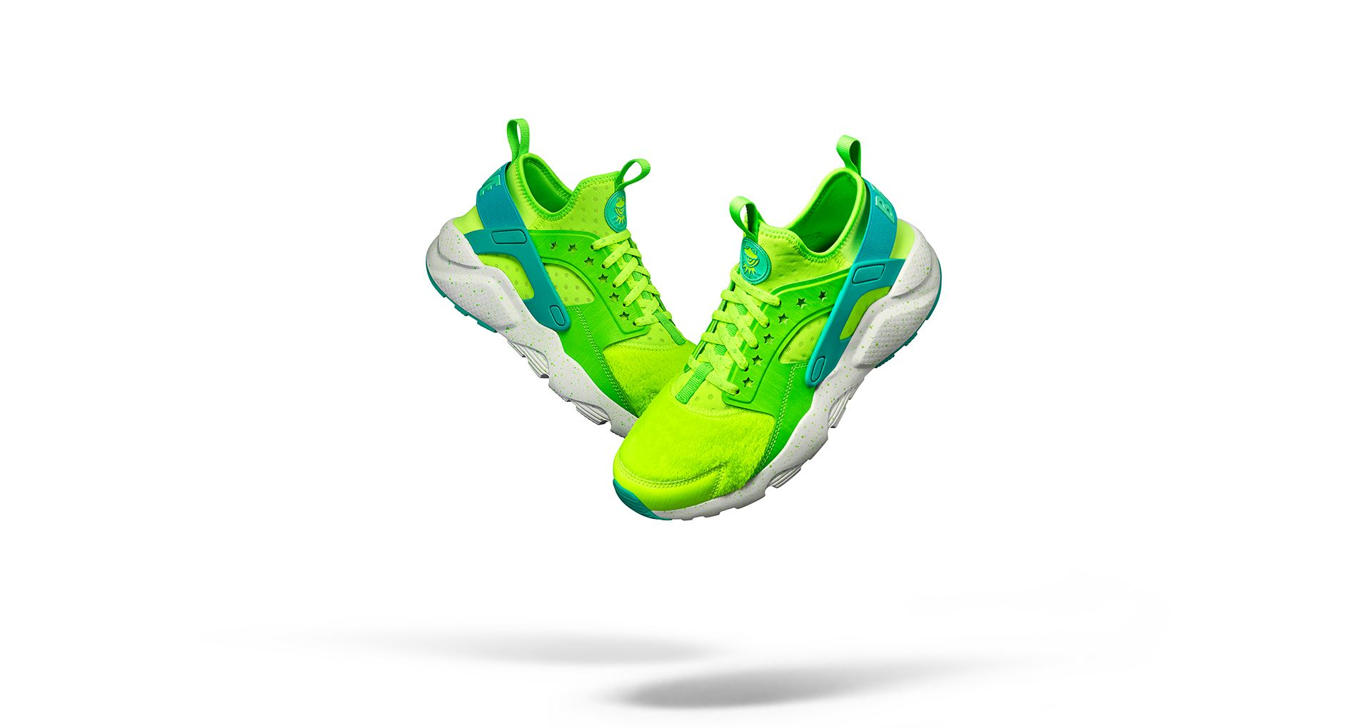 Women s Nike Air Huarache Ultra Doernbecher  Volt   Electric Green ... 2a35dff41