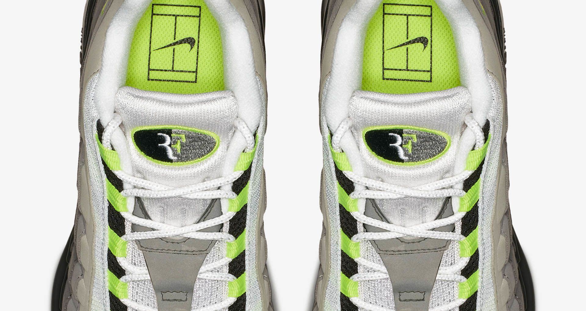 7ca0382a9bd9cf NikeCourt Vapor RF x AM95  Black  amp  Volt  Release Date. Nike+ ...