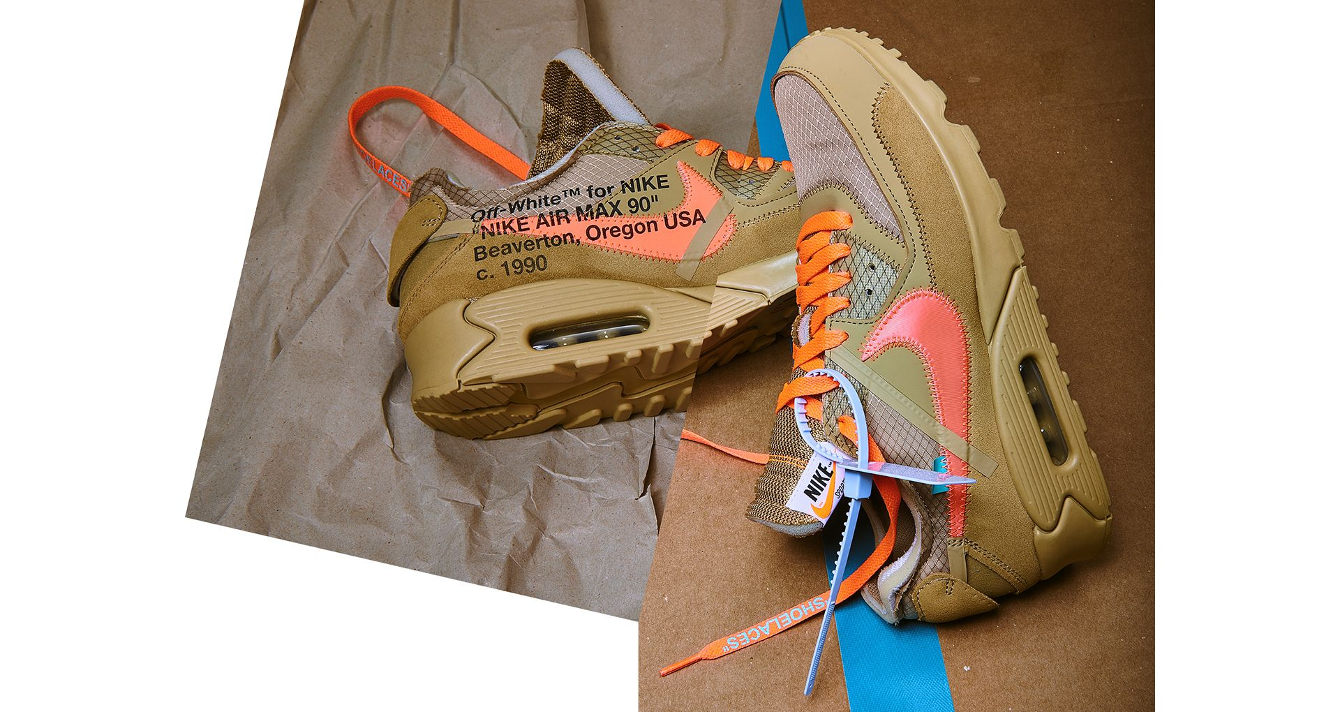 The Ten: Air Max 90 'Desert Ore & Hyper Jade & Bright Mango