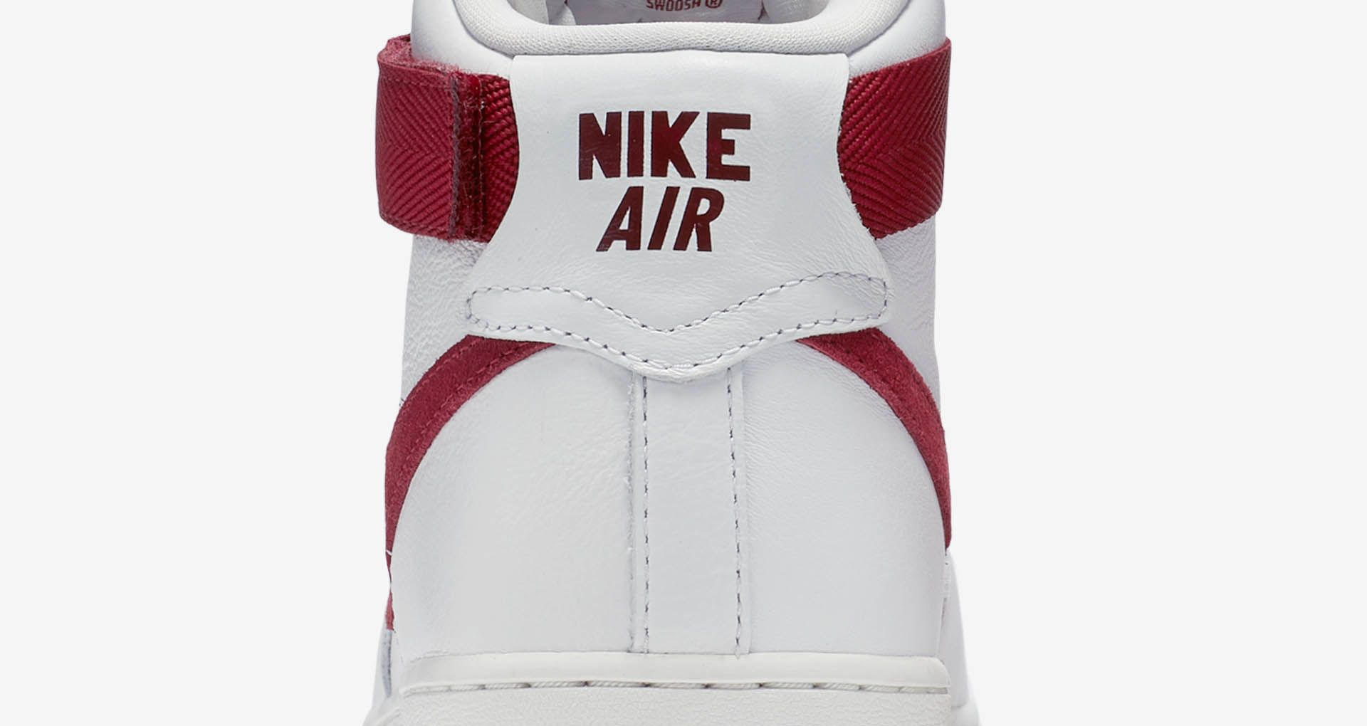 Nike Air Force 1 High 'White & Team Red'. Nike+ SNKRS