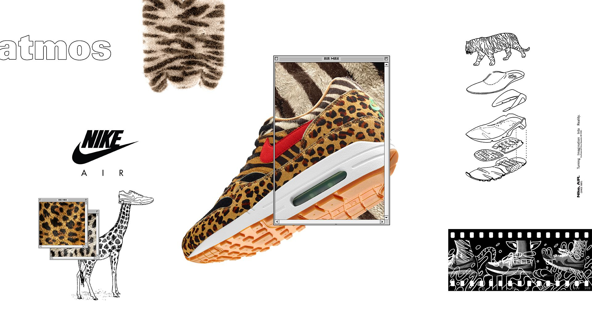 sale retailer d58e3 446fd Nike Air Max 1 Atmos  Animal Pack  2018 Release Date. Nike⁠+ SNKRS