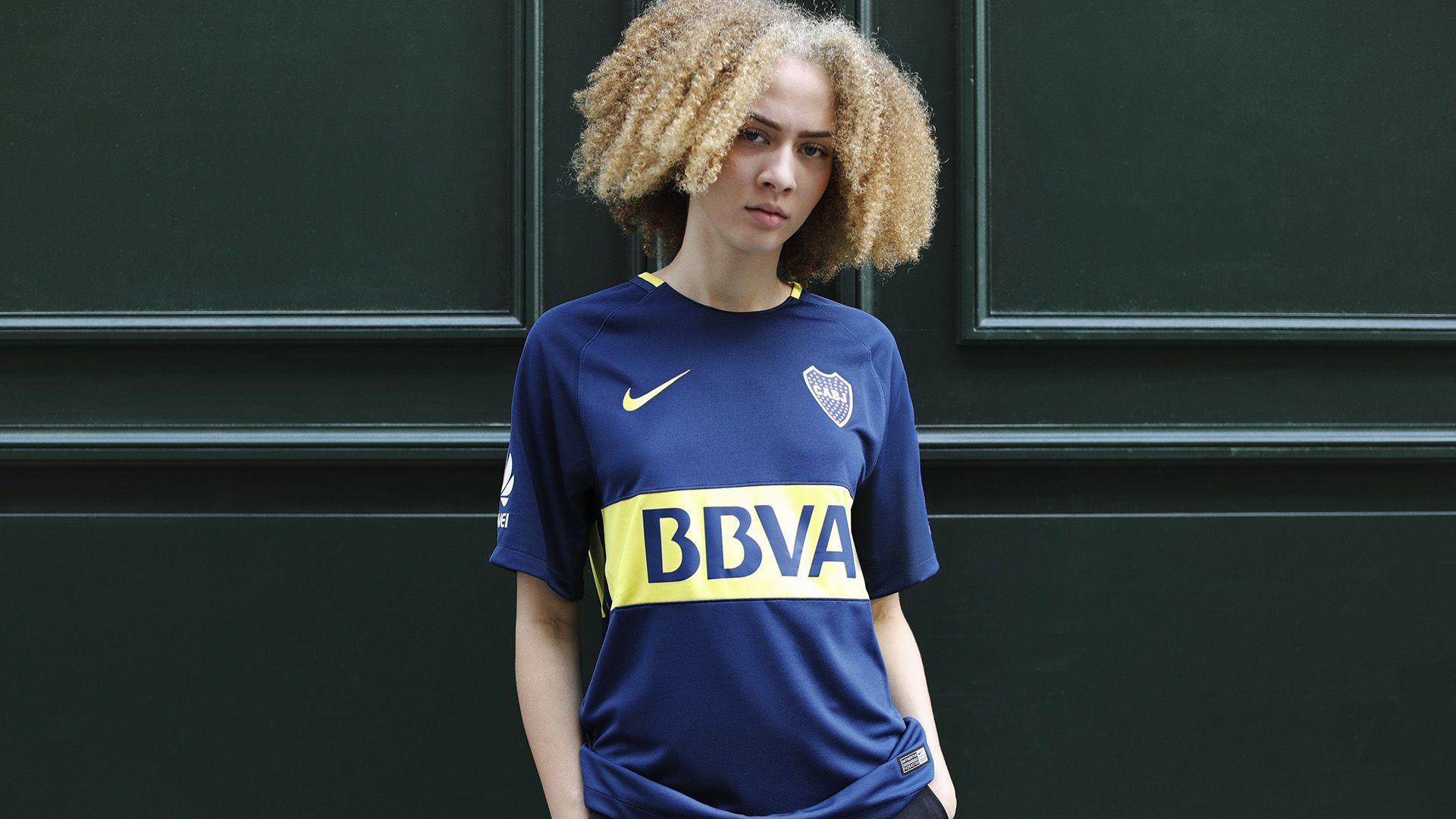 promo code 61e1b 286e1 Boca Juniors 2017/18 Home Kit. Nike.com
