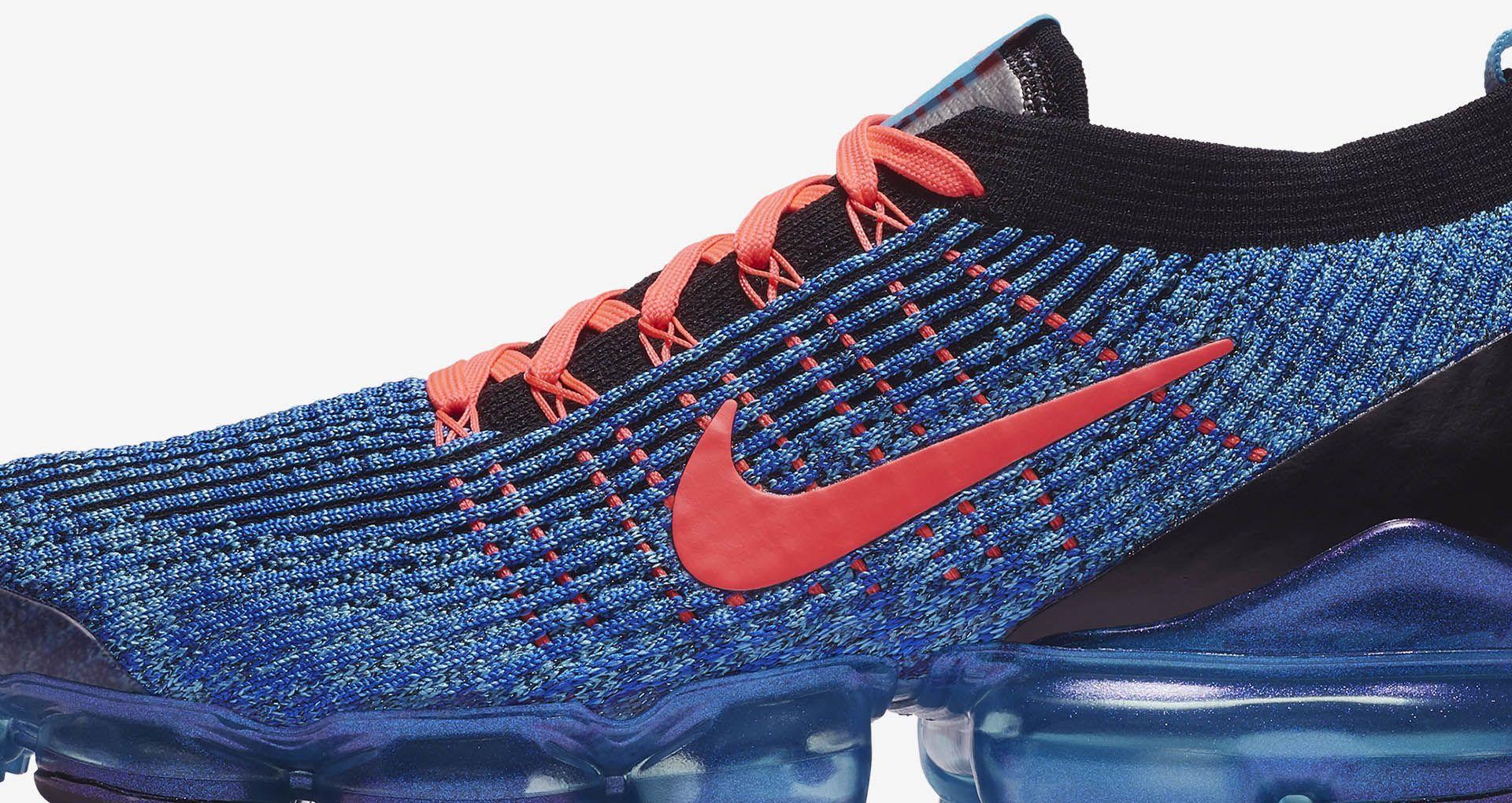 5ca04a7fd17b Nike Air VaporMax Flyknit 3  Blue Fury   Flash Crimson  Release Date .