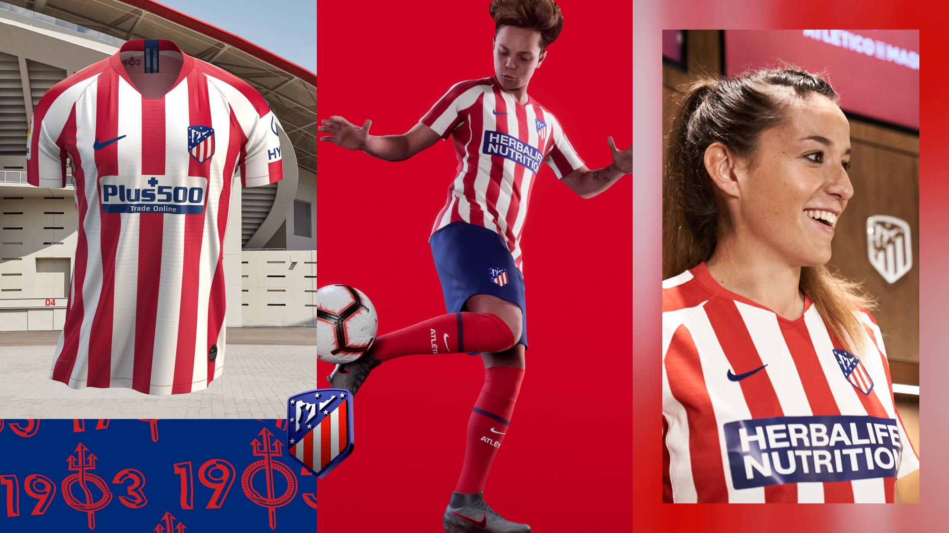 53ebb2cdc Nike Football. 2019/20 Atletico De Madrid Stadium Home Jersey