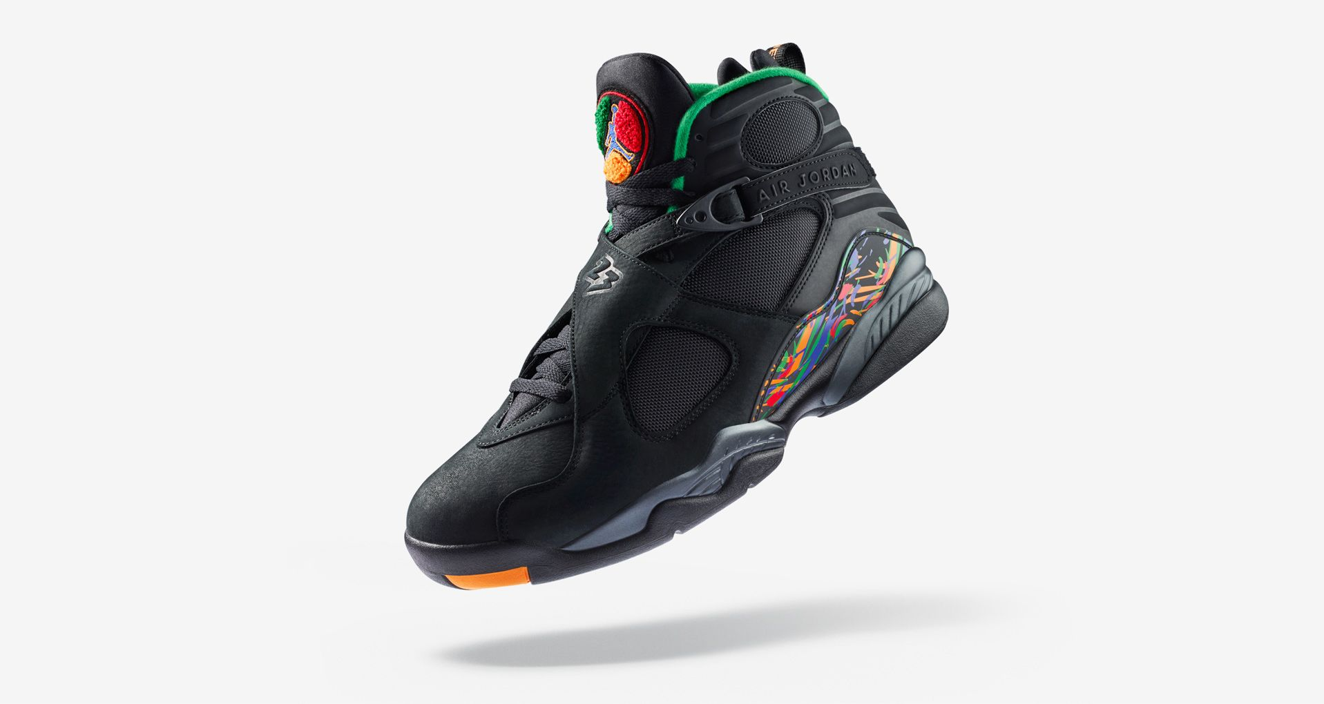 detailed look 8ee0c c55d0 Air Jordan 8 'Black & Orange & Aloe Verde' Release Date ...