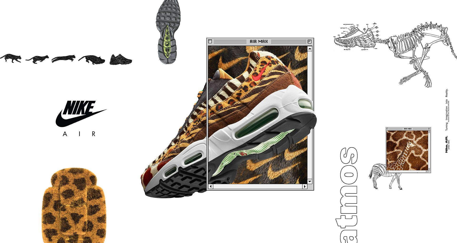buy online 6a3a0 76a42 Nike Air Max 95 Atmos  Animal Pack  2018 Release Date. Nike⁠+ SNKRS
