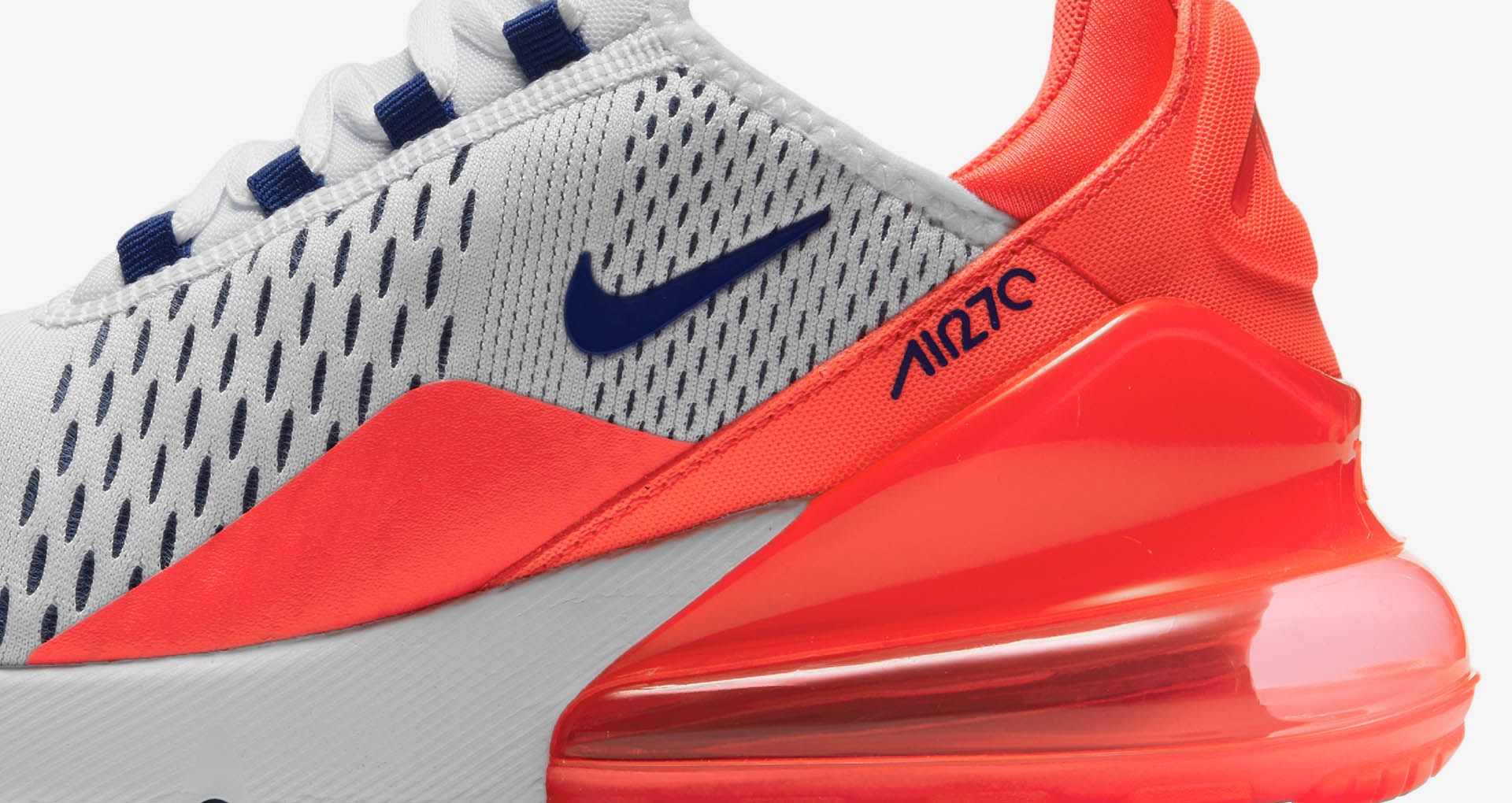 free shipping 778fc 7ff36 Nike Womens Air Max 270 'Ultramarine & Solar Red' Release ...