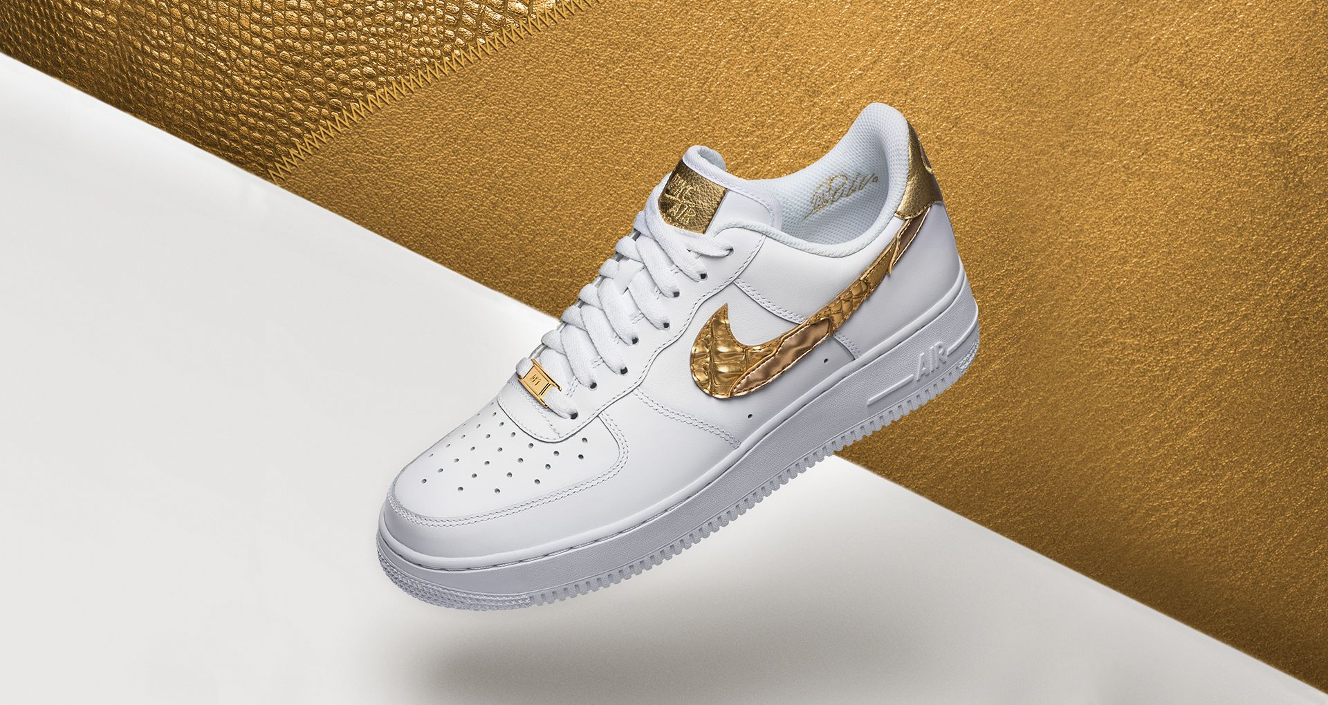 new arrival 41535 270b9 Nike Air Force 1 CR7 'Golden Patchwork' Release Date. Nike⁠+ SNKRS