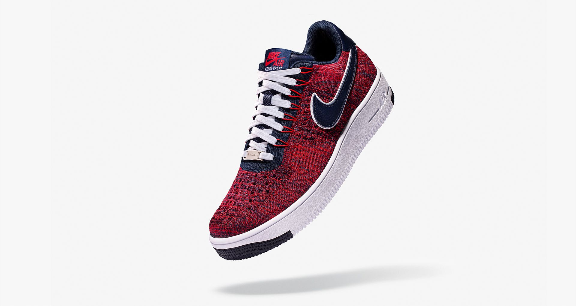 67102e79cabf Nike Air Force 1 Ultra Flyknit Low RKK  University Red   Navy ...